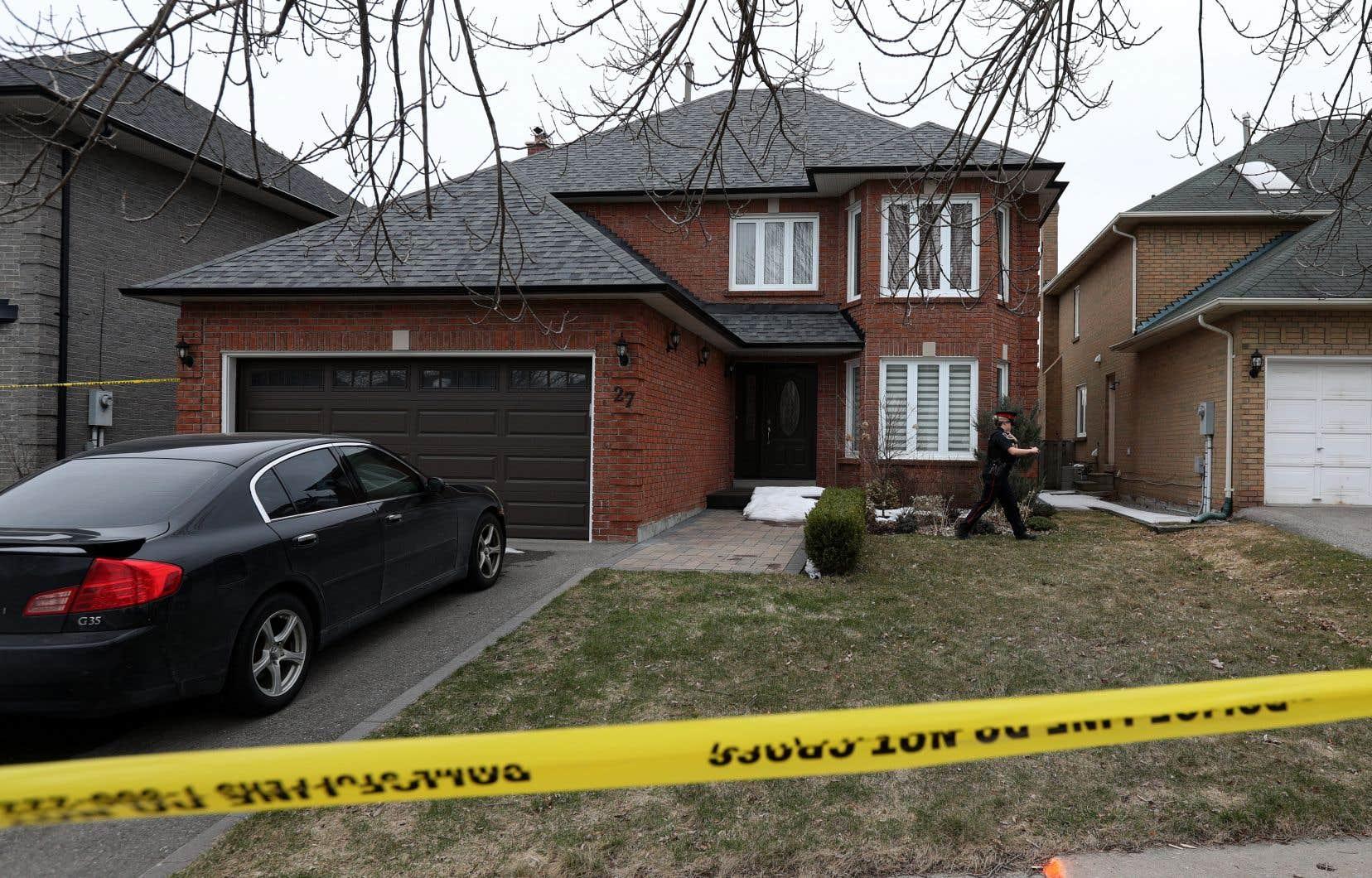La maison d'Alek Minassian, à Richmond Hill en Ontario