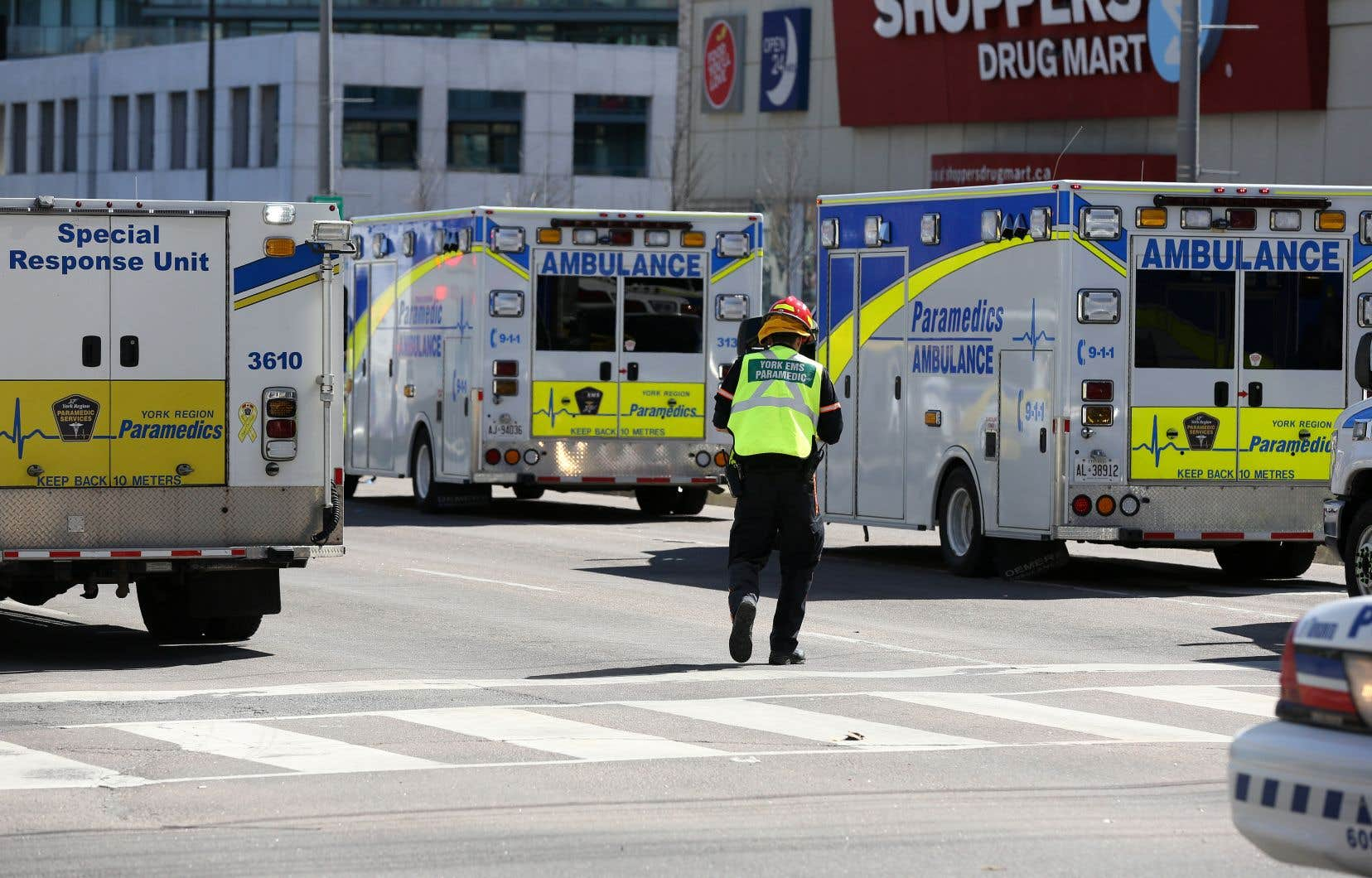 Au Centre des sciences de la santé Sunnybrook,environ une fois par année, une simulation impliquant de multiples victimes est organisée.