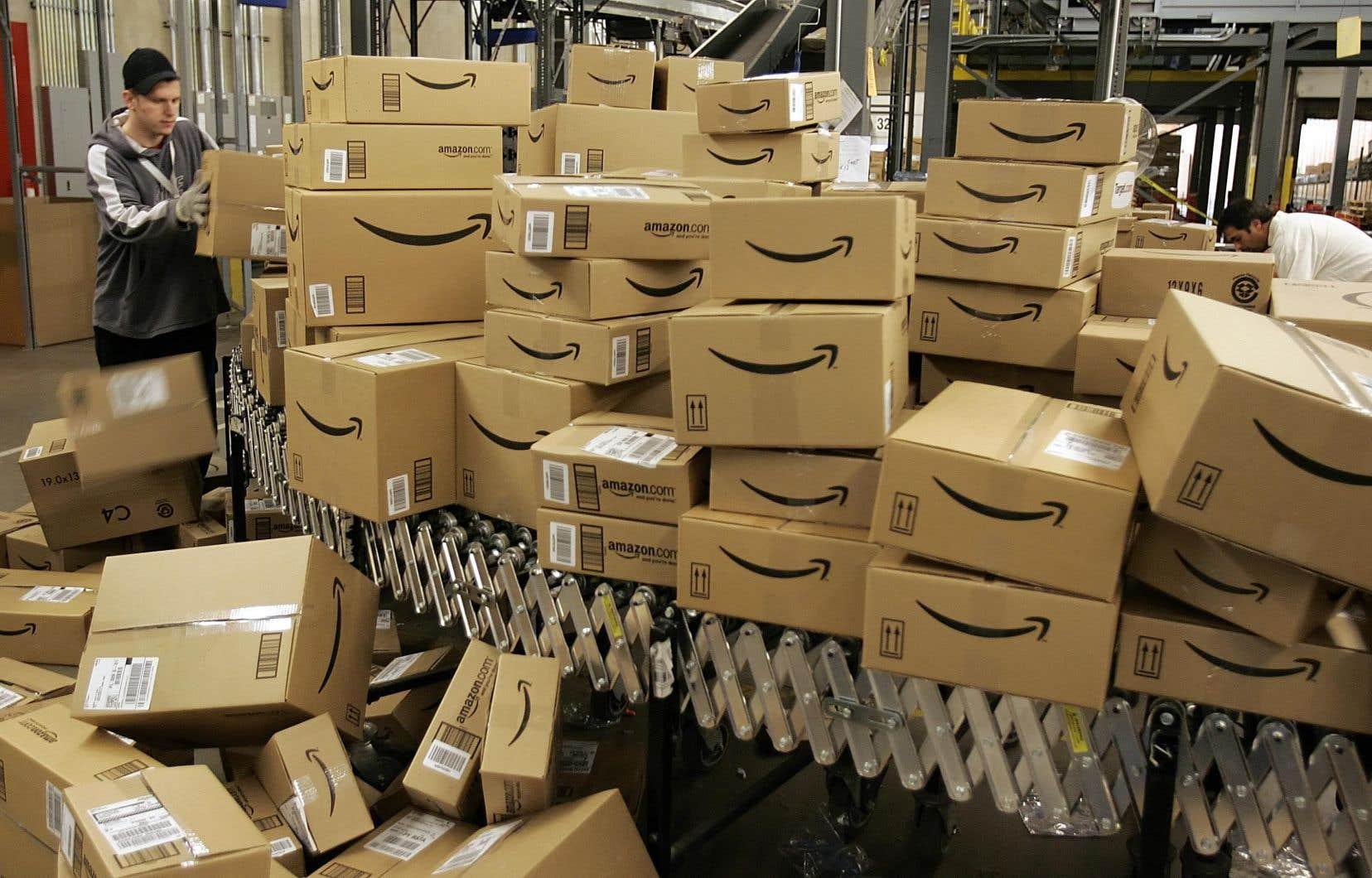 Le site de la compagnie Amazon représente à lui seul 15% de tous les montants dépensés.
