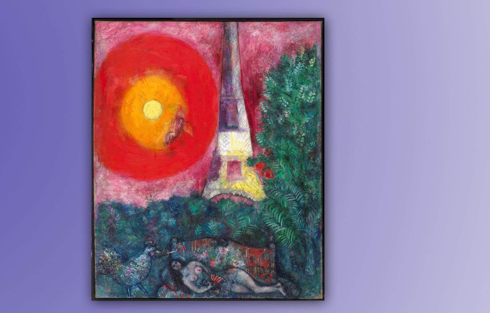 «La tour Eiffel» de Chagall demeurera dans la collection nationale du Musée des beaux-arts du Canada.