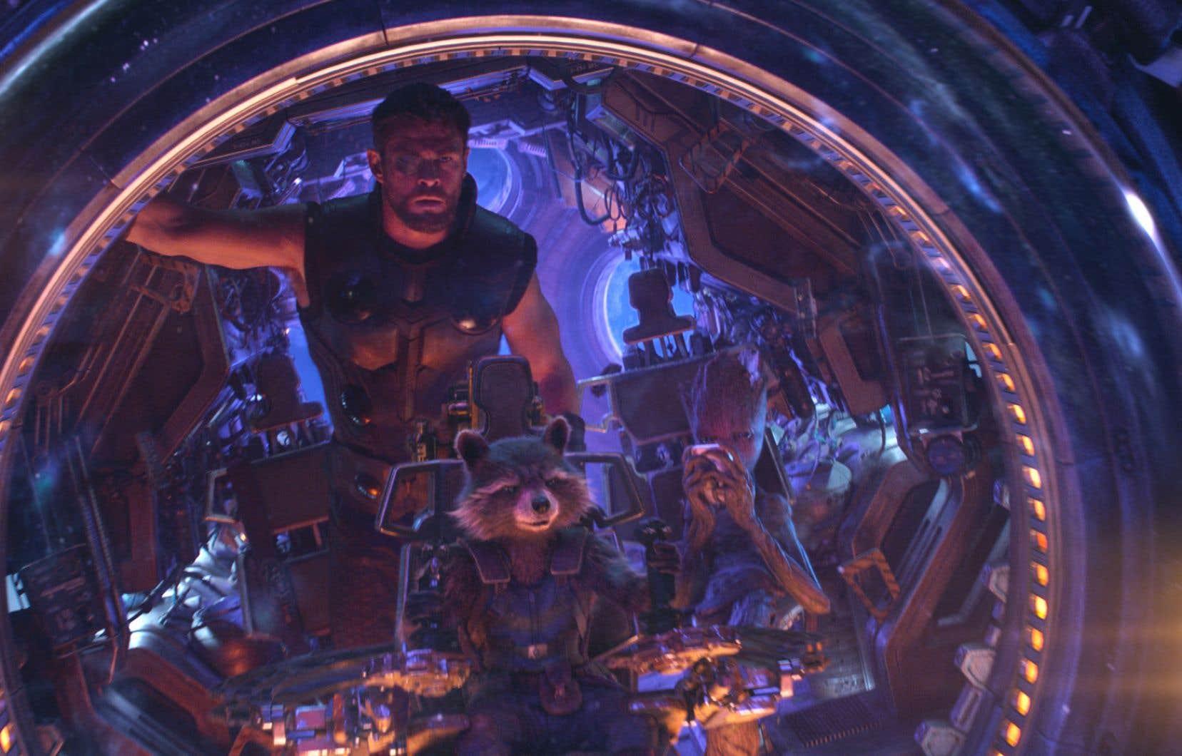 Le nouveau chapitre des «Avengers» a provoqué la rencontre de plusieurs superhéros, notamment Thor, Rocket et Groot.