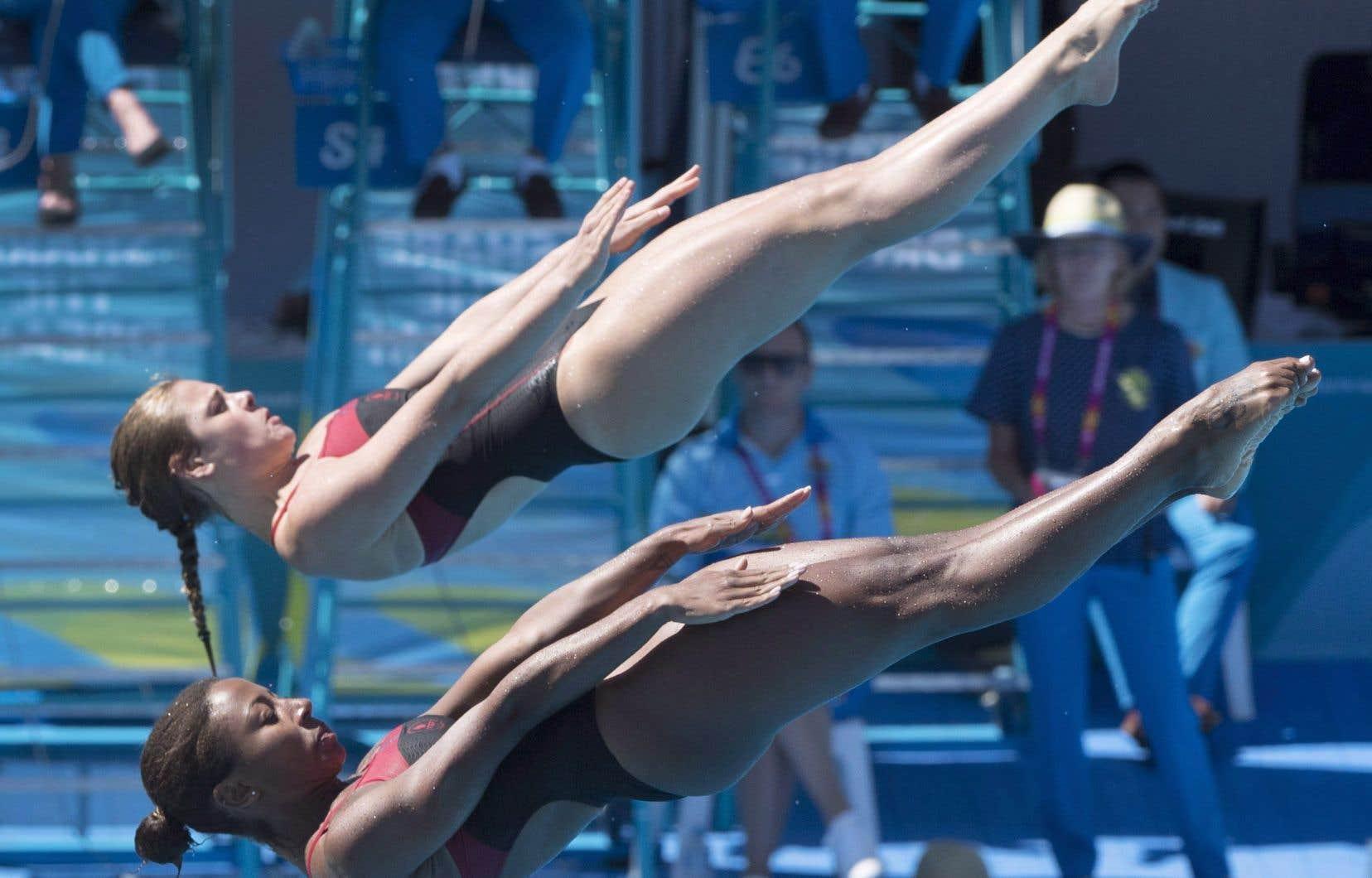Jennifer Abel et Mélissa Citrini-Beaulieuont pu tourner la page sur leur désastreuse cinquième place dans la même épreuve aux Jeux du Commonwealth plus tôt ce mois-ci.
