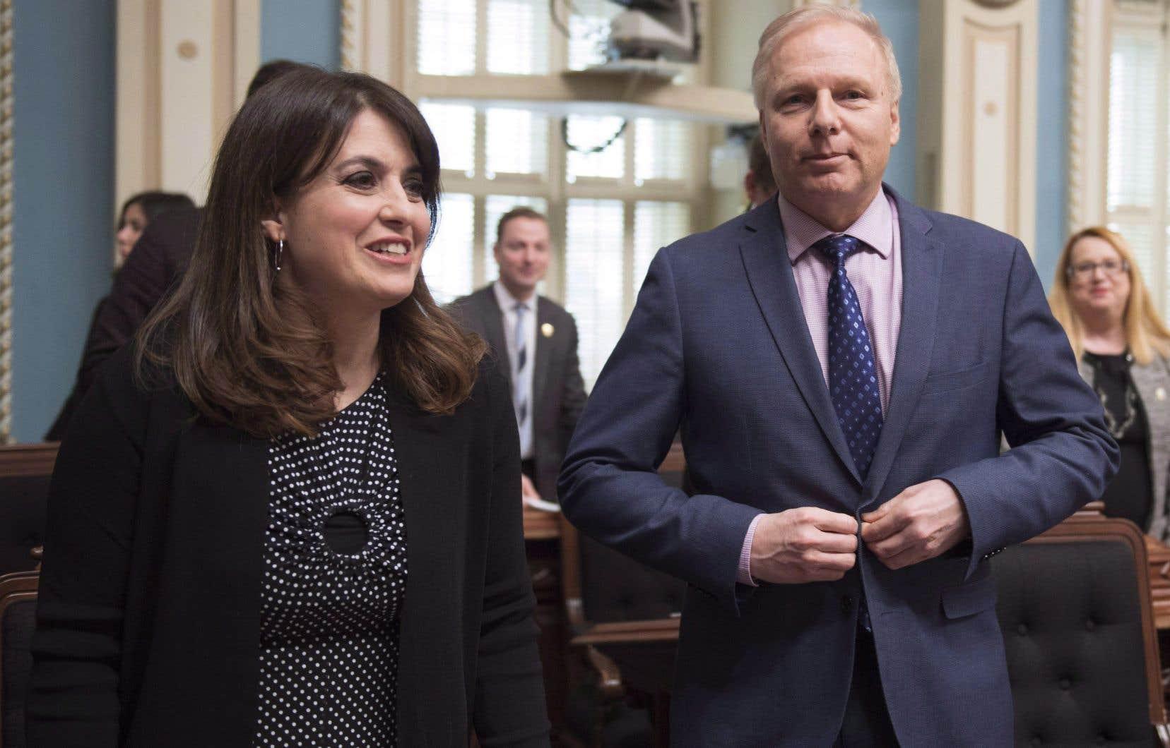 La vice-chef du Parti québécois, Véronique Hivon, et le chef du Parti québécois. Jean-François Lisée