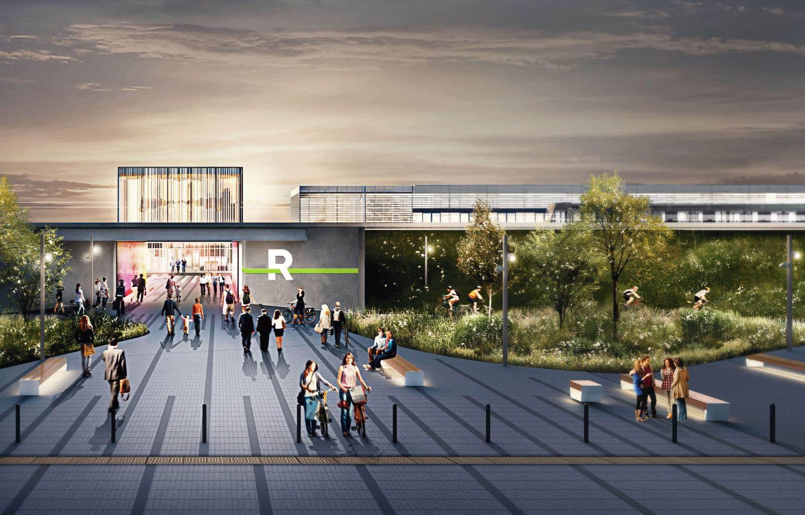 Le projet de Réseau express métropolitain, station Panama, sur la Rive-Sud
