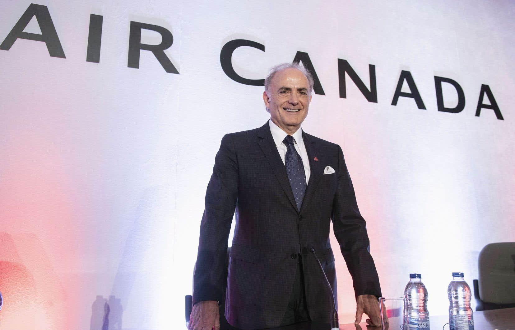 Le président d'Air Canada, Calin Rovinescu, à la réunion annuelle du transporteur, lundi à Montréal