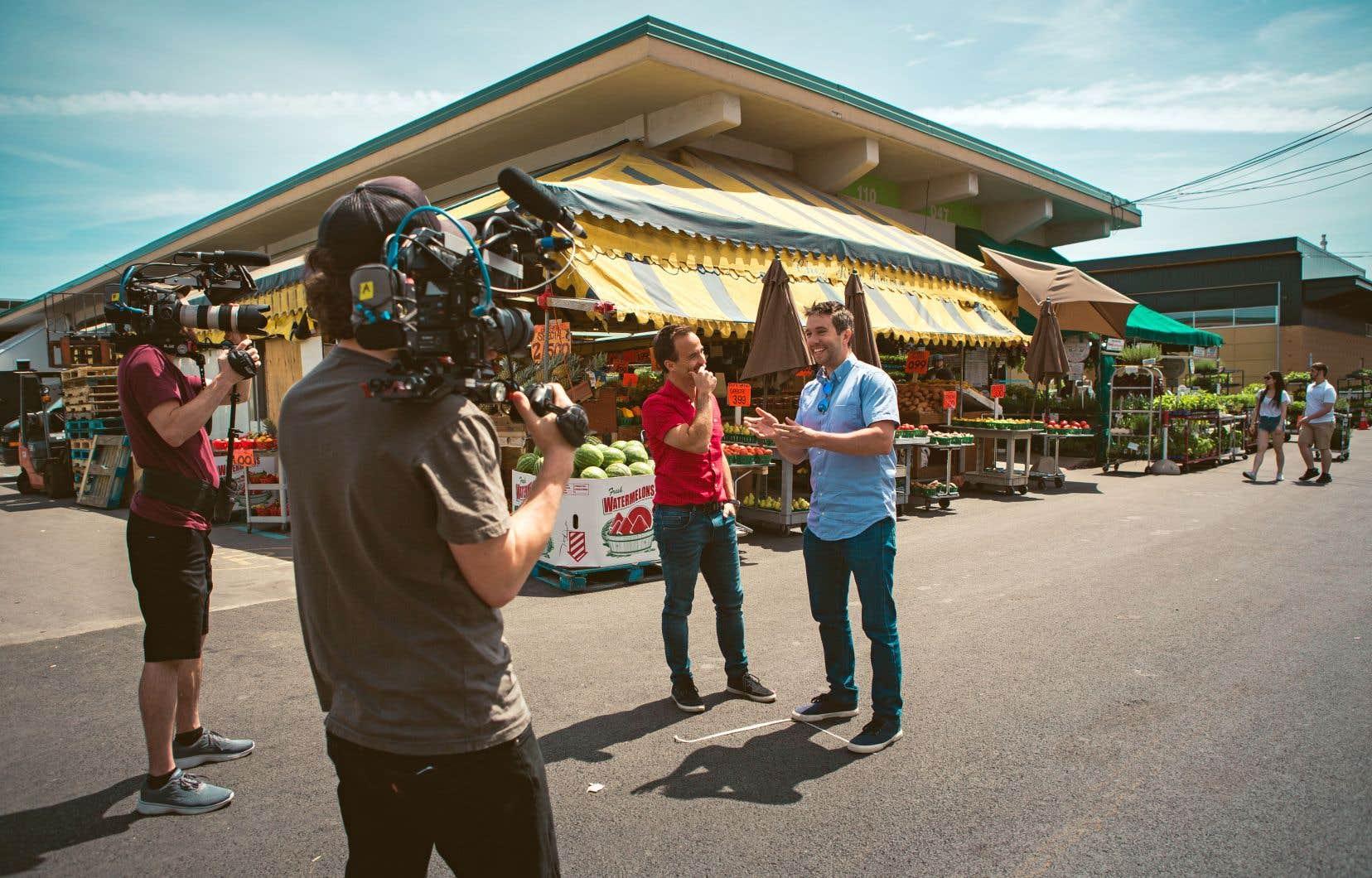 Un épisode de la série «Coup de food» animée par Sébastien Benoit et diffusée sur les ondes de la chaîne Évasion