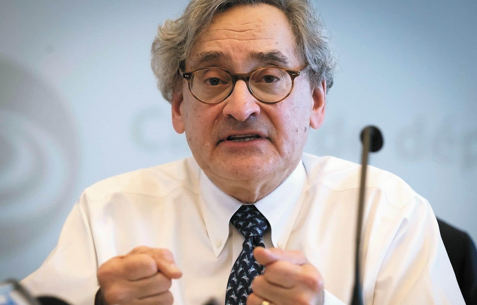 Le président de la Caisse de dépôt et placement du Québec, Michael Sabia, a eu à répondre aux questions des députés de l'opposition à l'Assemblée nationale.