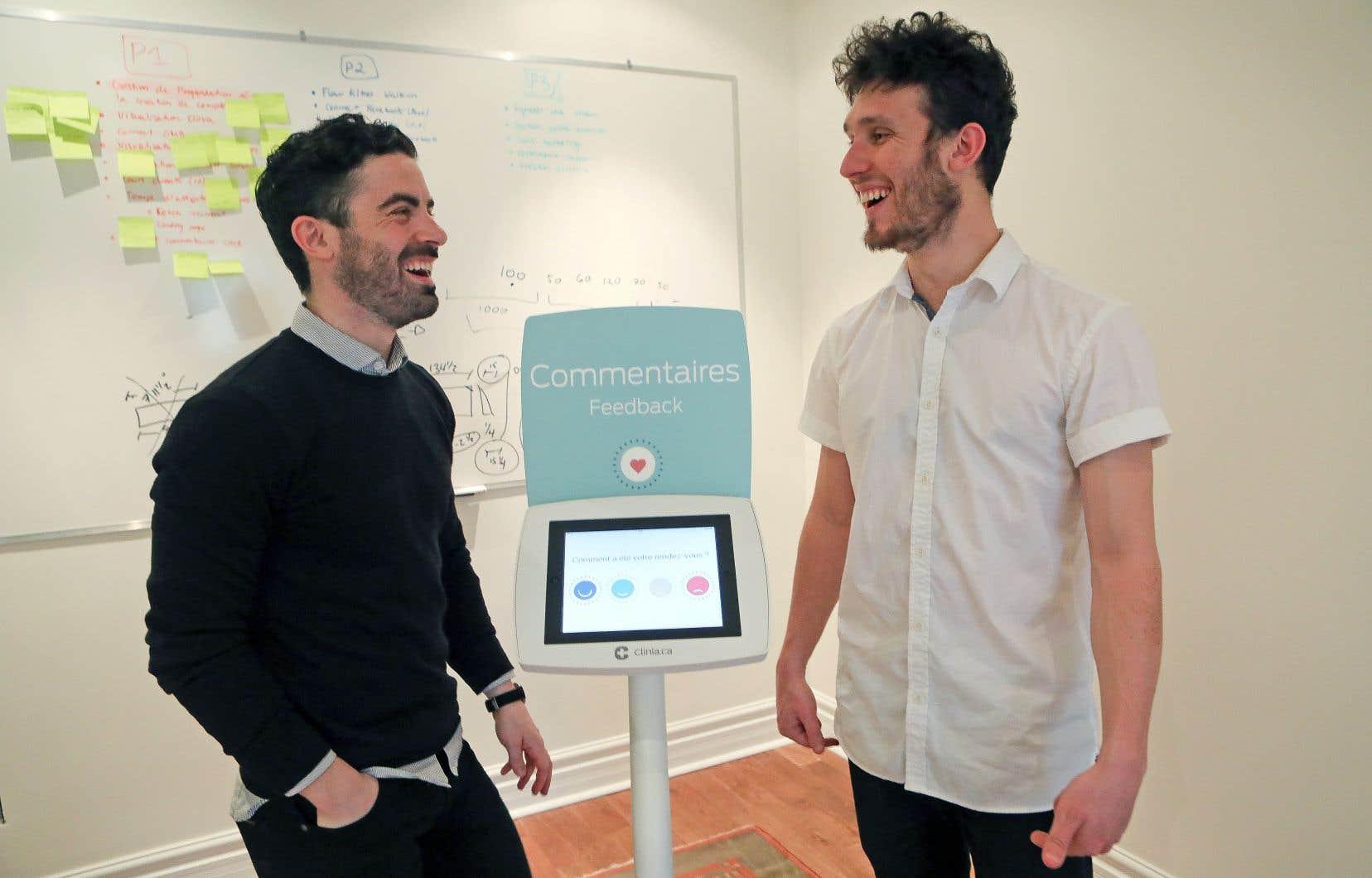 Chaque semaine, vous franchirez une à une les étapes par lesquelles doivent passer les nouveaux entrepreneurs en suivant le parcours de Simon Bédard (à gauche), qui a cofondé Clinia.ca, entreprise à laquelle s'est joint Etienne Soulard Geoffrion (à droite).
