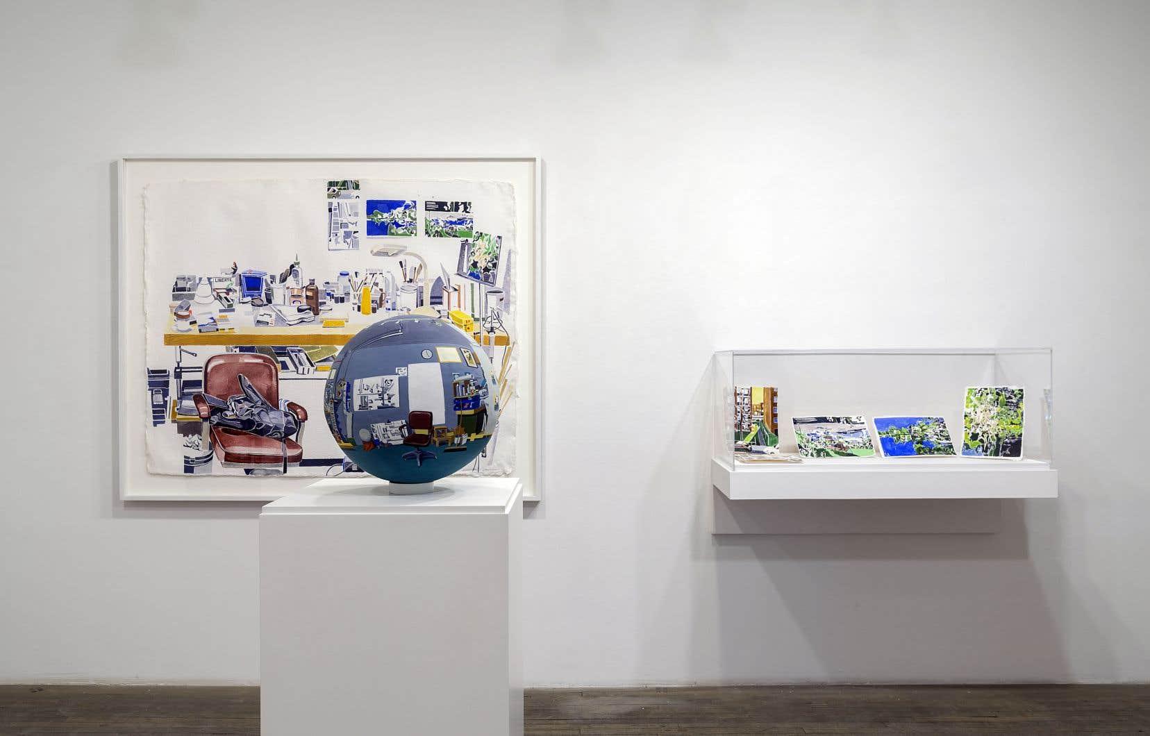 Vue de l'installation «Studio» dans l'exposition de Michael Merrill