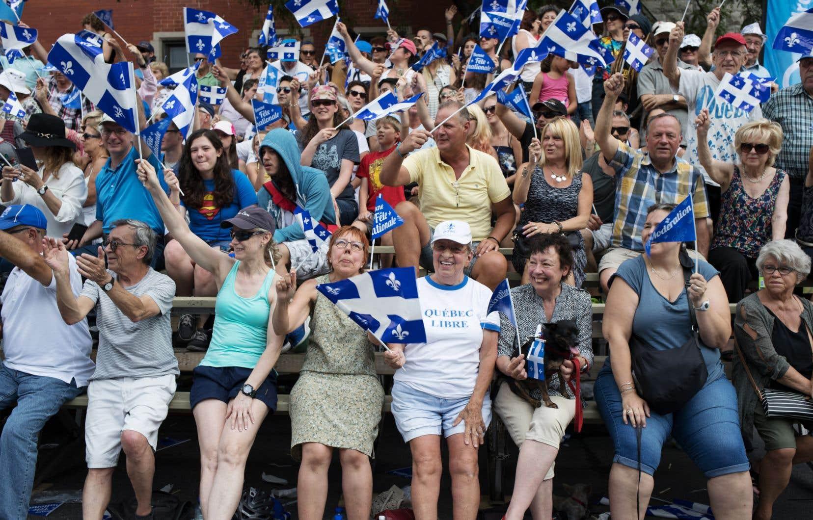 Défilé de la Fête nationale à Montréal le 24 juin 2017