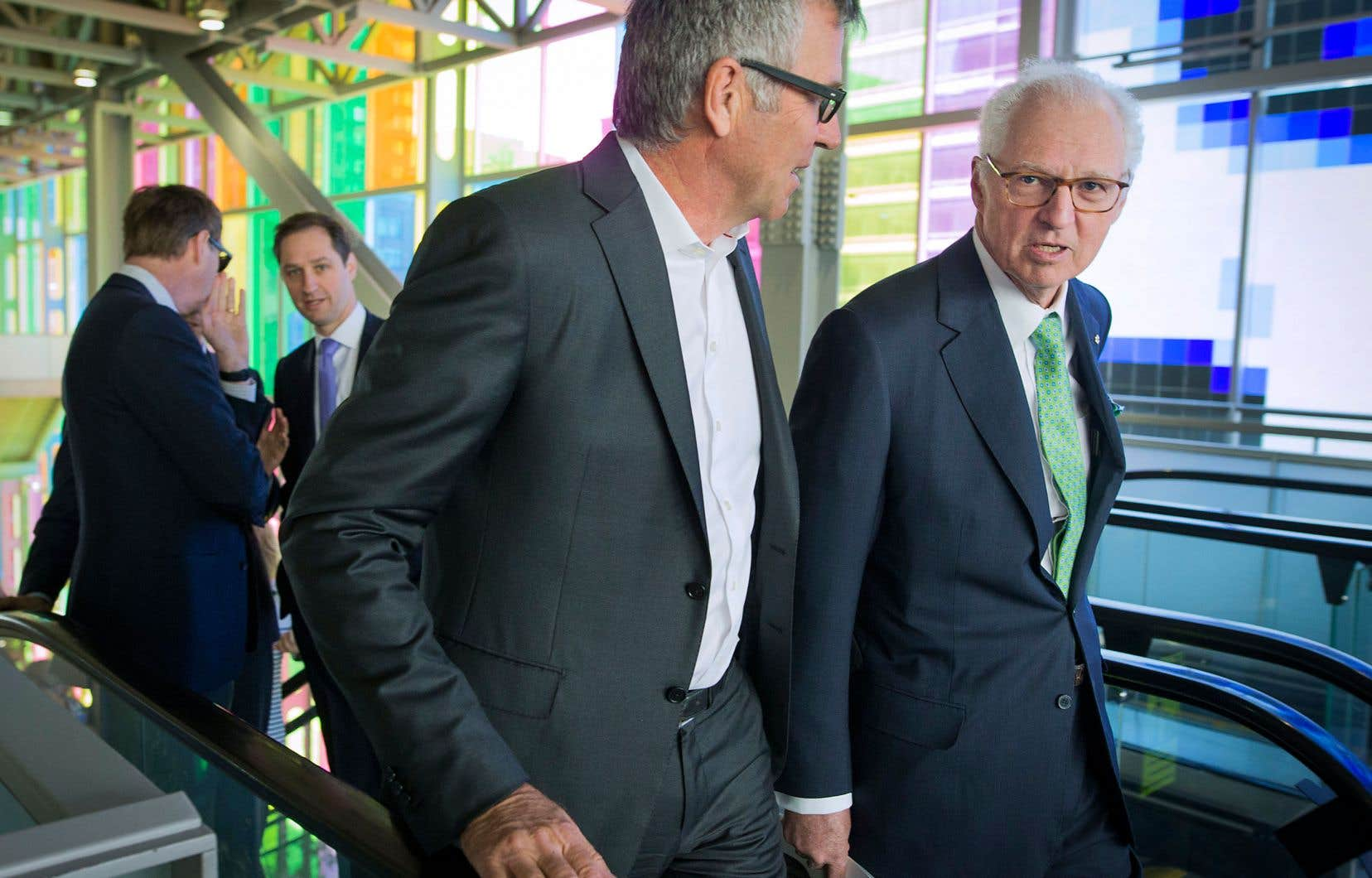 L'éditeur de «La Presse», Guy Crevier, et le président et cochef de la direction de Power Corporation, André Desmarais