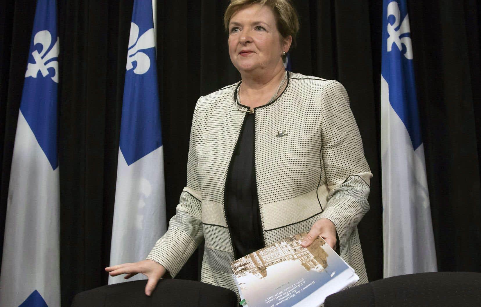 La vérificatrice générale, Guylaine Leclerc, a scruté les données au ministère de la Santé.
