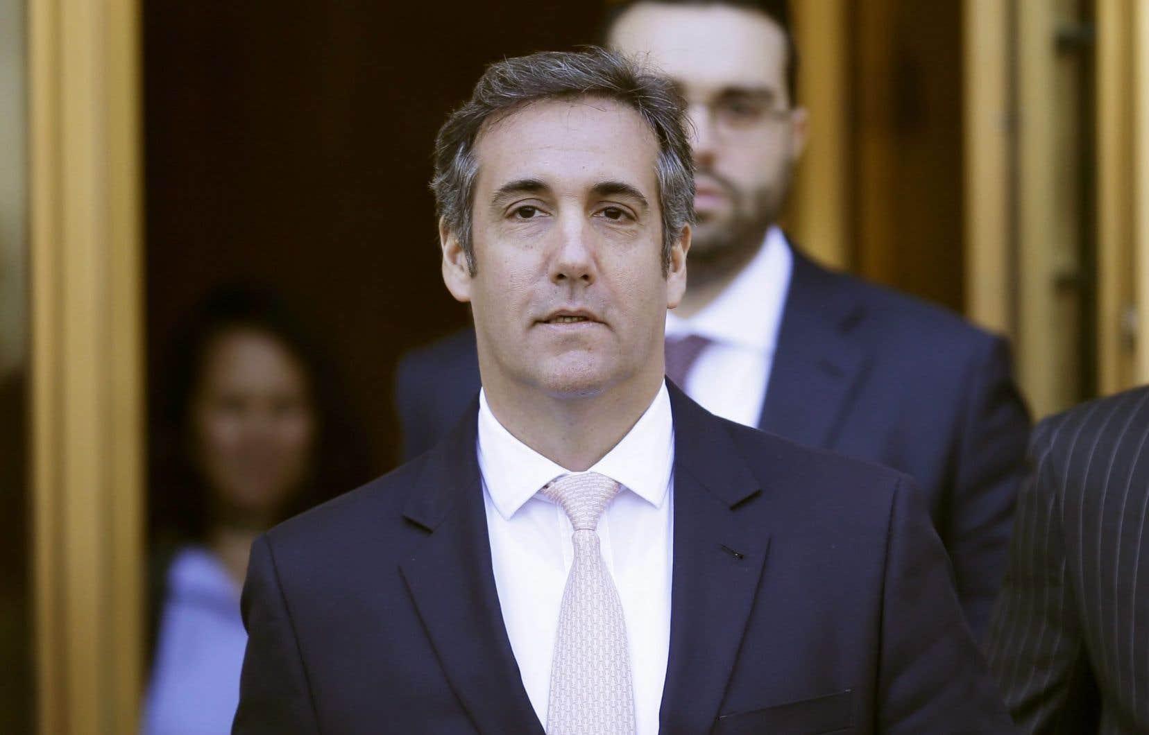 Michael Cohen à sa sortie du tribunal à New York, le 26 avril dernier
