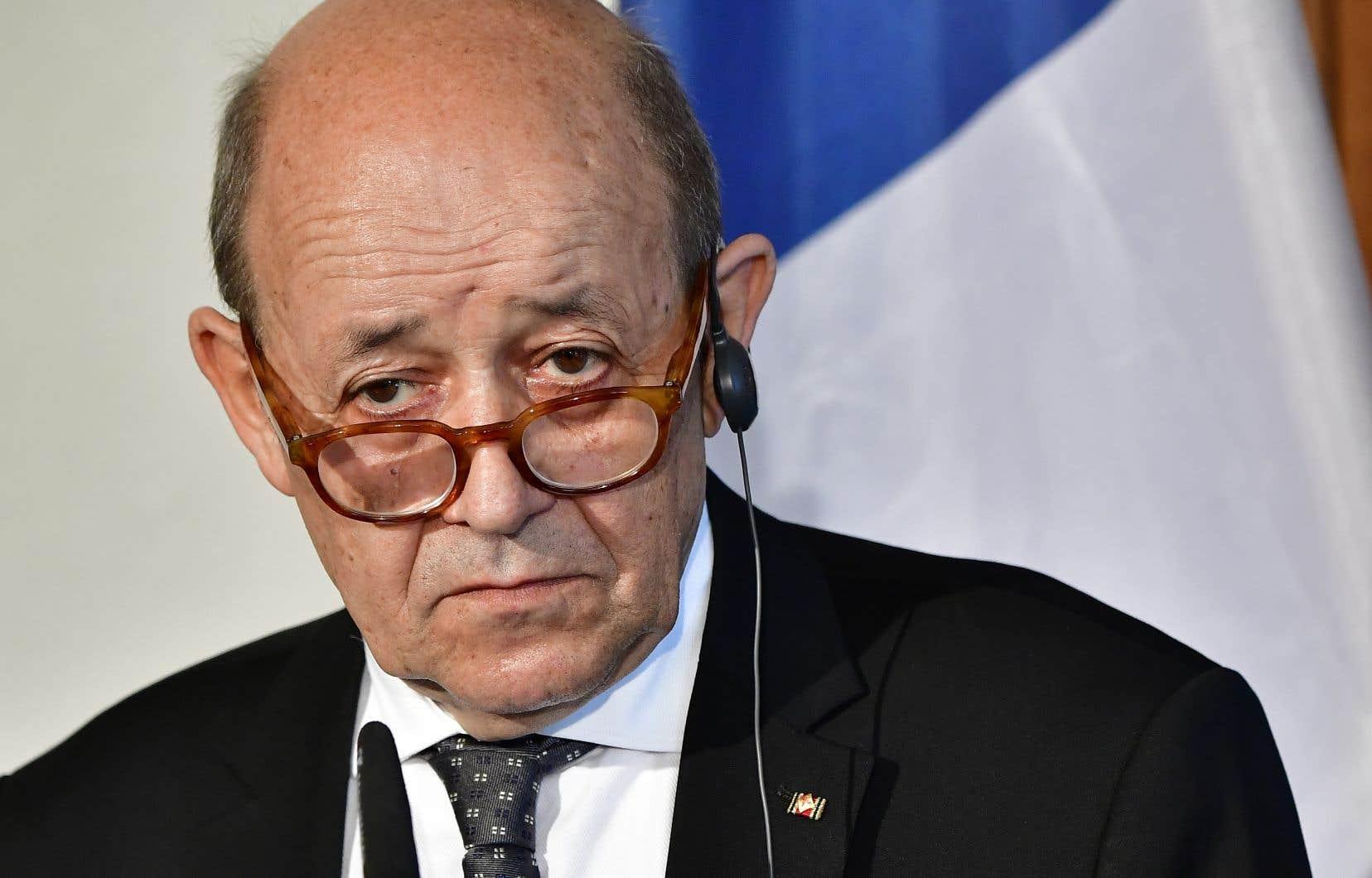 Le chef de la diplomatie française, Jean-Yves Le Drian.