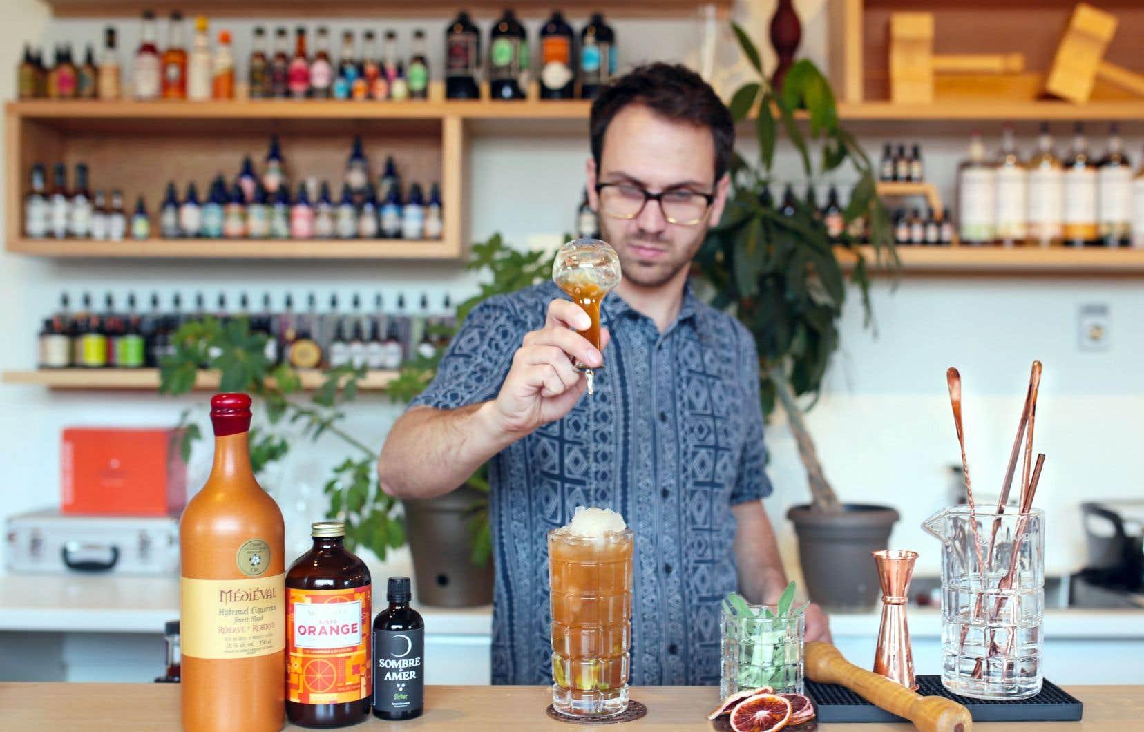 Cocktail préparé par Manuel Perrier pour Alambika.
