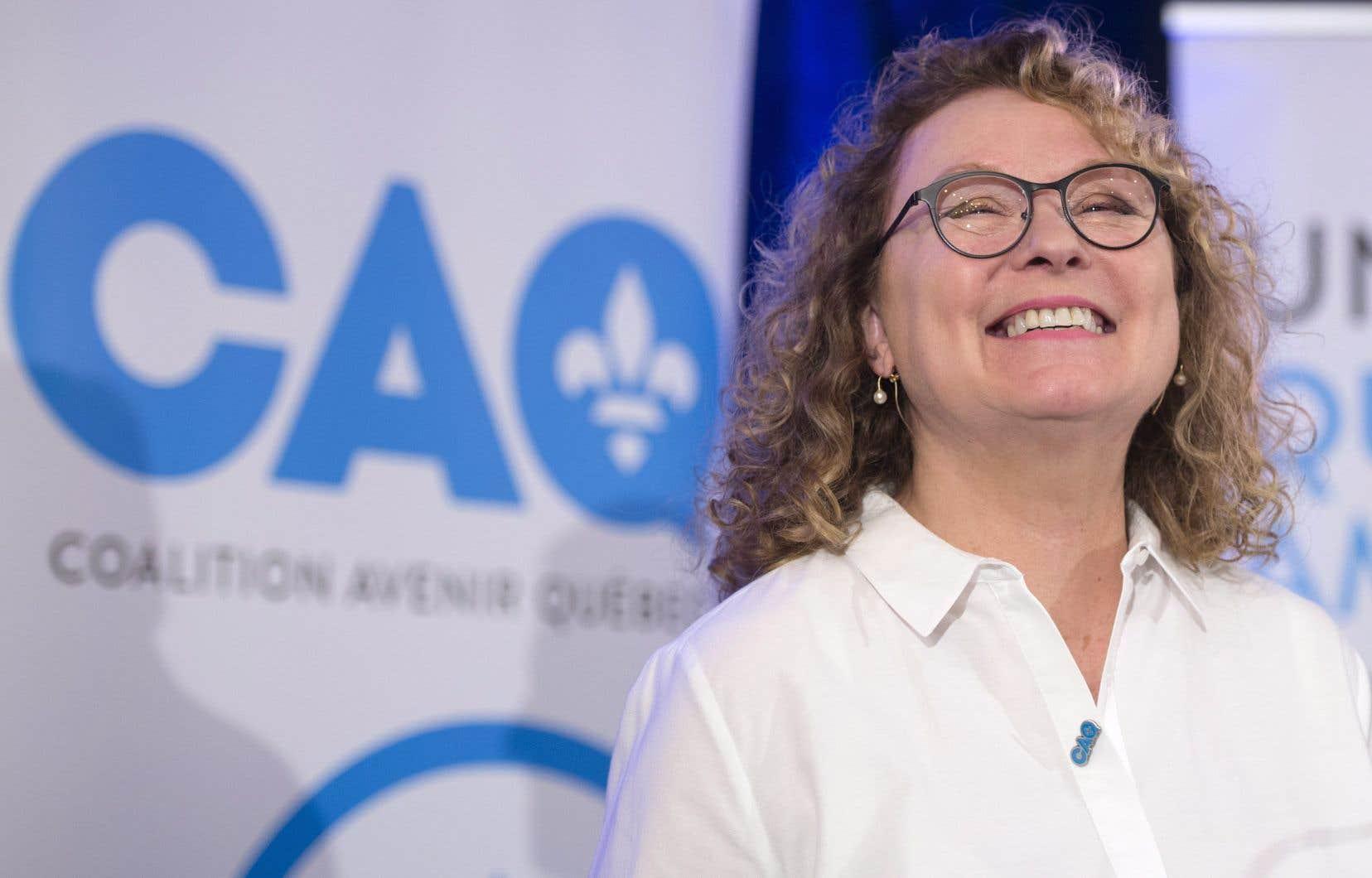 Marguerite Blais a confirmé vendredi qu'elle portera les couleurs de la CAQ dans Prévost lors de la prochaine campagne électorale.