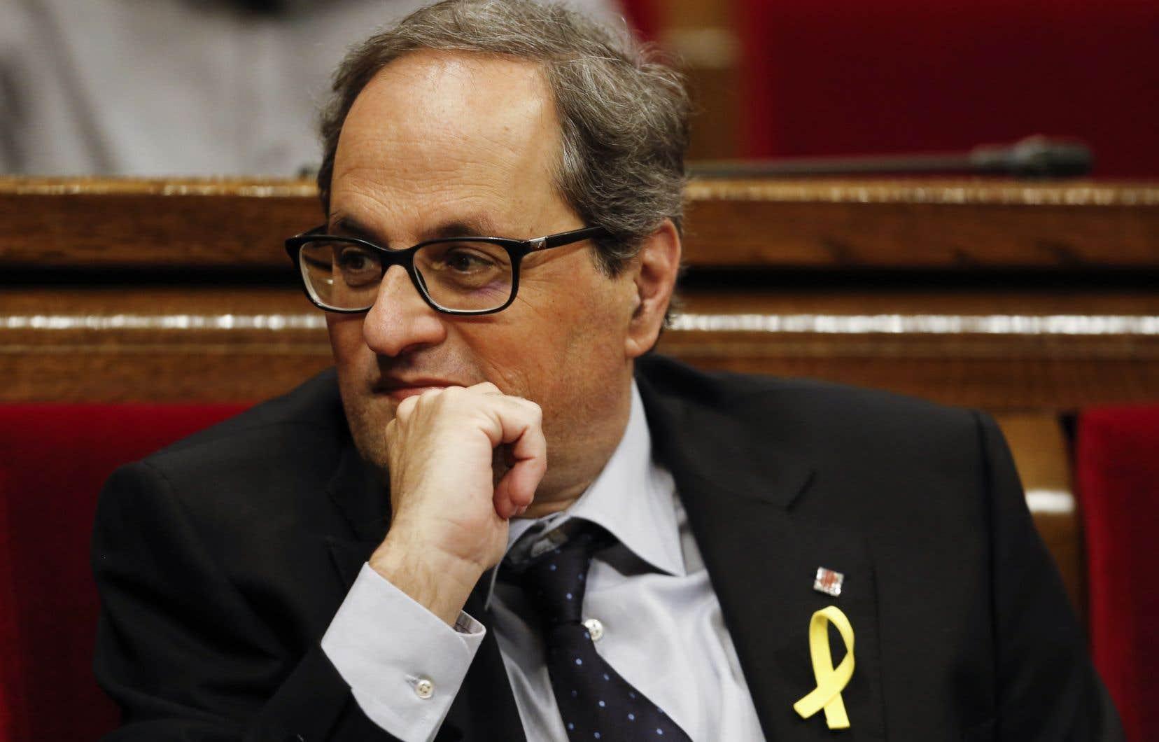 Quim Torra, 55ans, un novice en politique, est lecandidat choisi par Carles Puigdemont pour lui succéder.