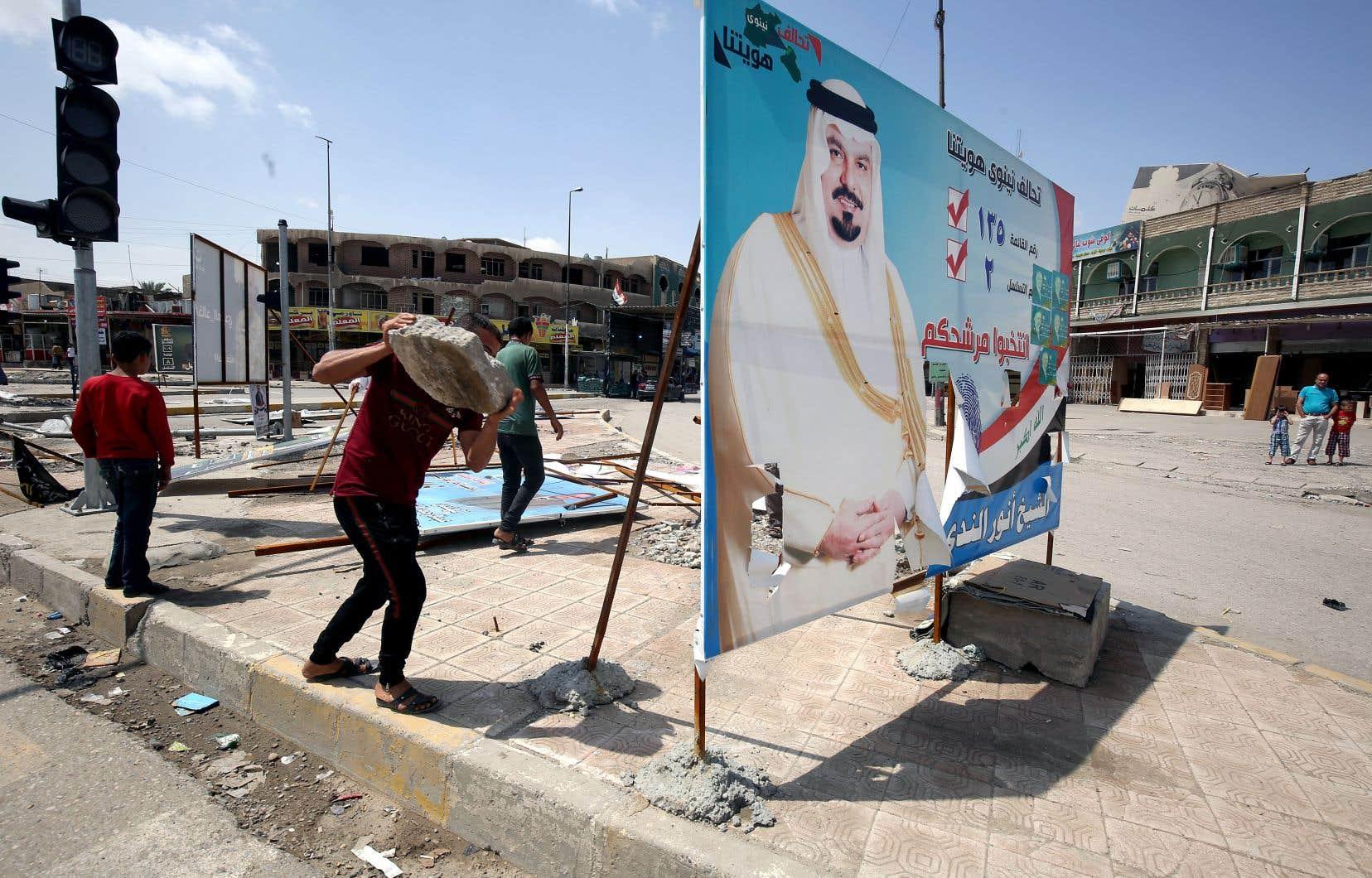 Le premier ministre sortant est devancé dans toutes les provinces à l'exception de celle de Ninive, dont le chef-lieu est Mossoul.