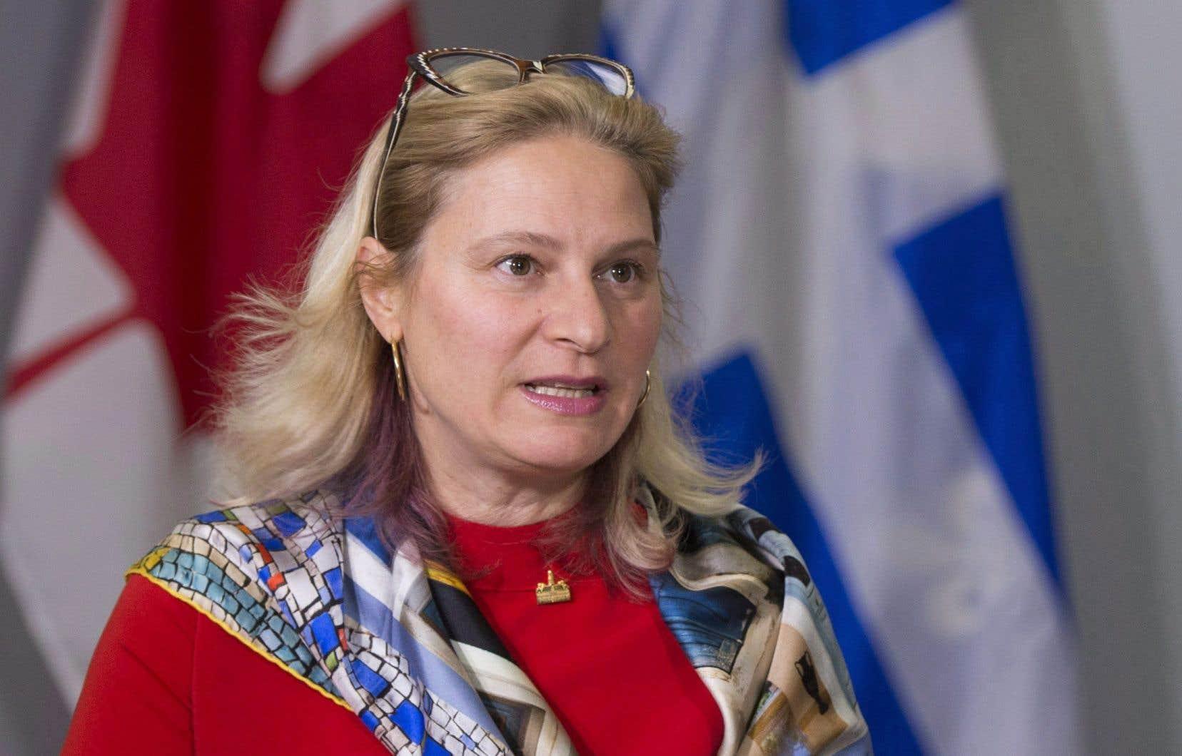 La mairesse de l'arrondissement de Villeray–Saint-Michel–Parc-Extension, Giuliana Fumagalli