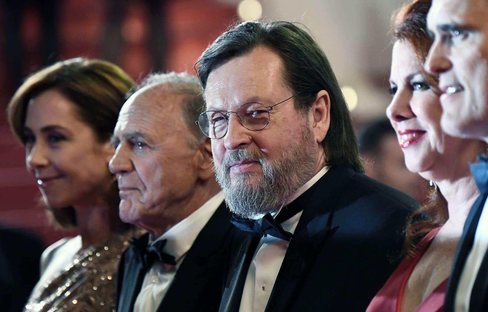 Accompagné de ses acteurs, le réalisateur Lars von Trier a présenté sa dernière œuvre, «The House that Jack Built», au public cannois.