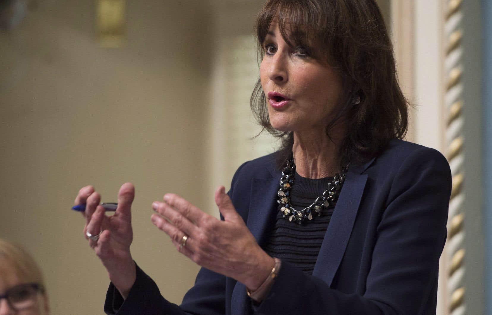 La ministre responsable de l'Accès à l'information, Kathleen Weil