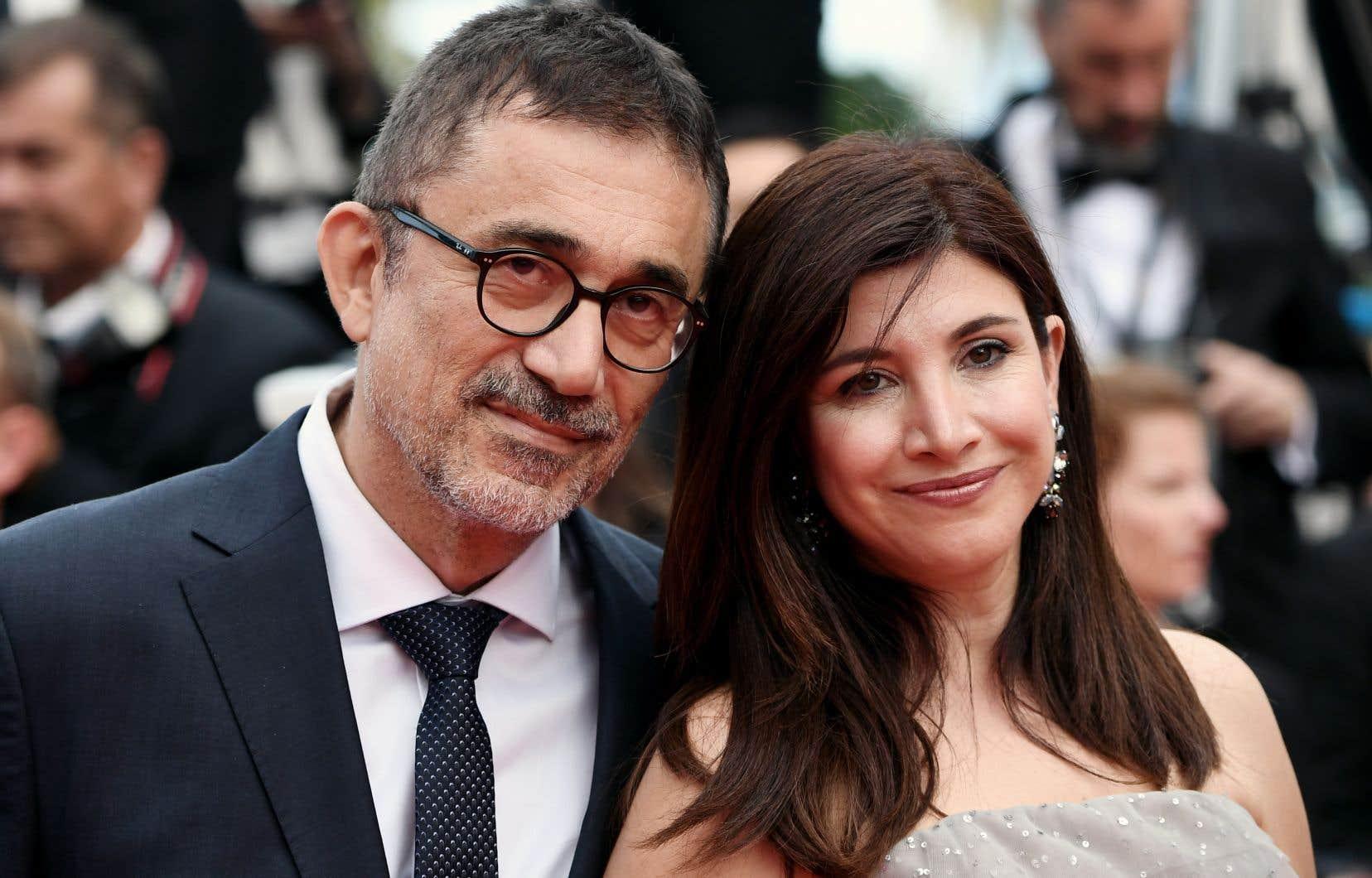 Le réalisateur du «Poirier sauvage», Nuri Bilge Ceylan, aux côtés de sa femme, l'actrice Ebru Ceylan, à Cannes, vendredi