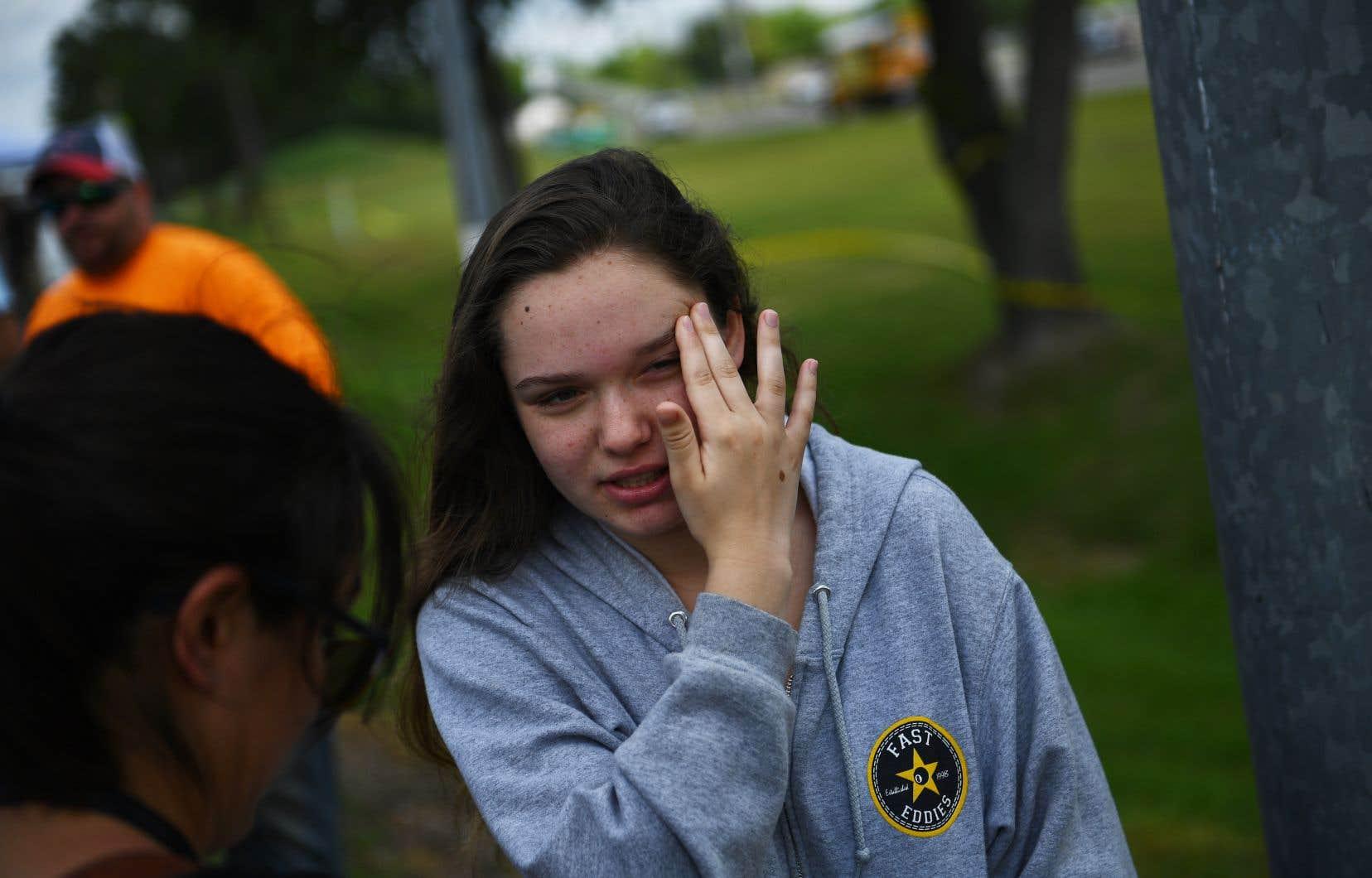 <p>Tori White, l'une des étudiantes du lycée de Santa Fe, qui est devenu le lieu de la dernière tuerie en date à frapper une école américaine.</p>