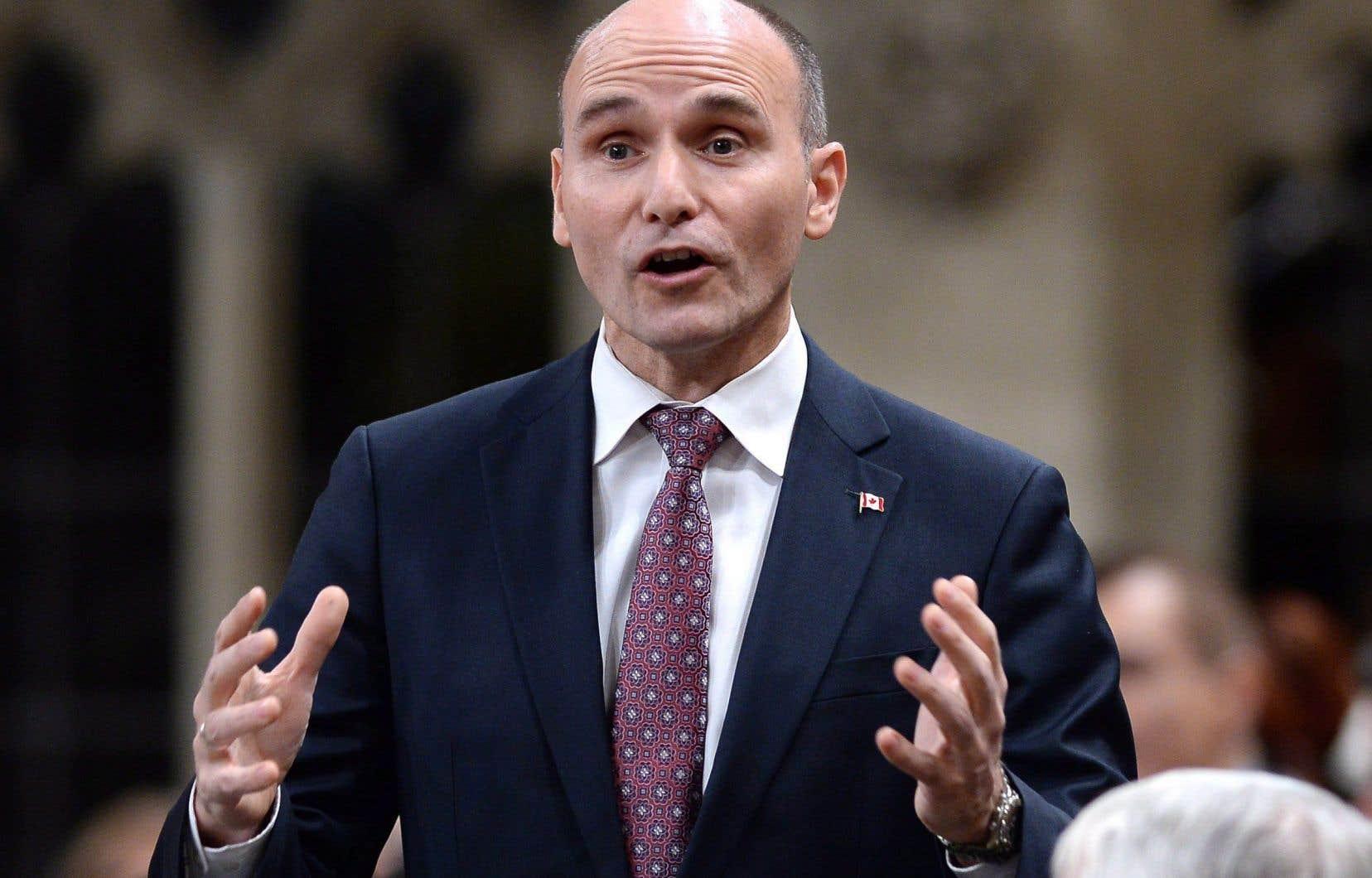Le ministre fédéral de la Famille, des Enfants et du Développement social, Jean-Yves Duclos