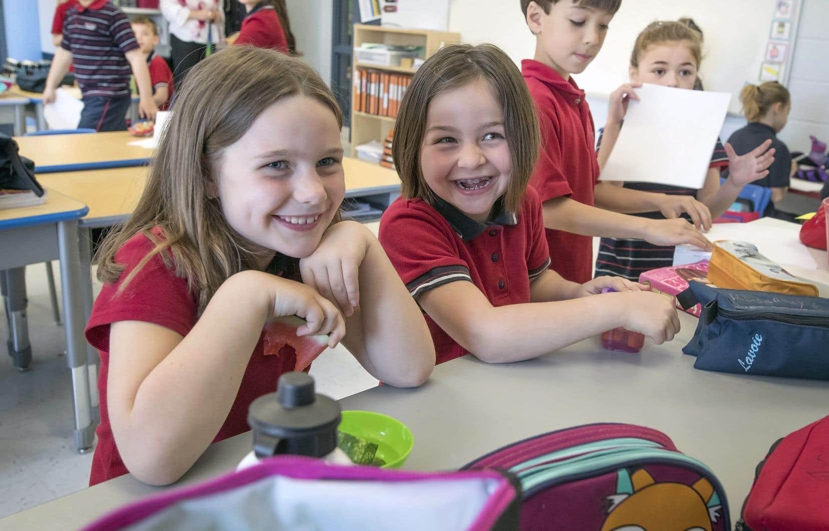L'école Vision accueille aujourd'hui 215 enfants du préscolaire et du primaire.