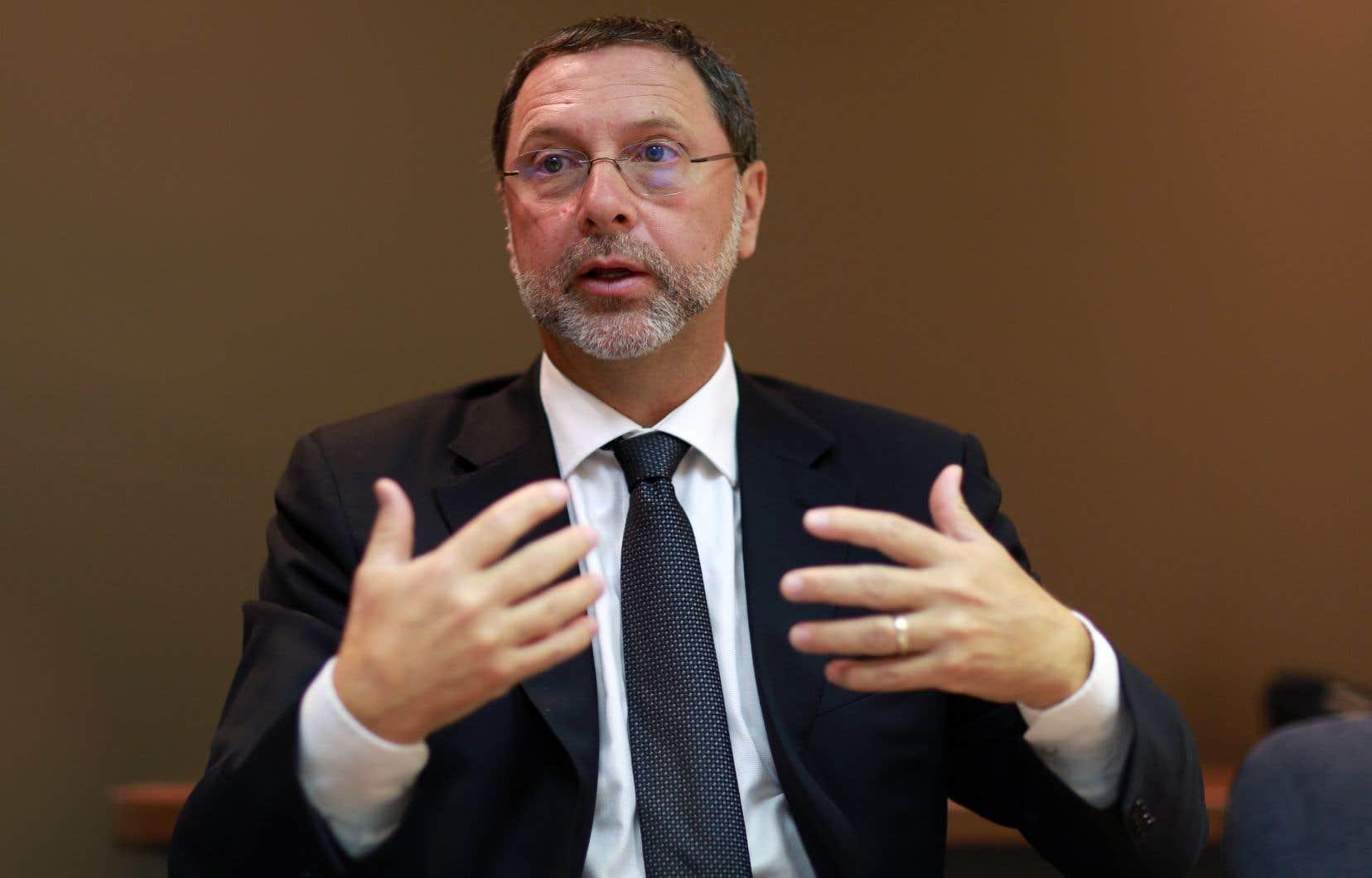 Le président-directeur général du Conseil du patronat du Québec, Yves-Thomas Dorval