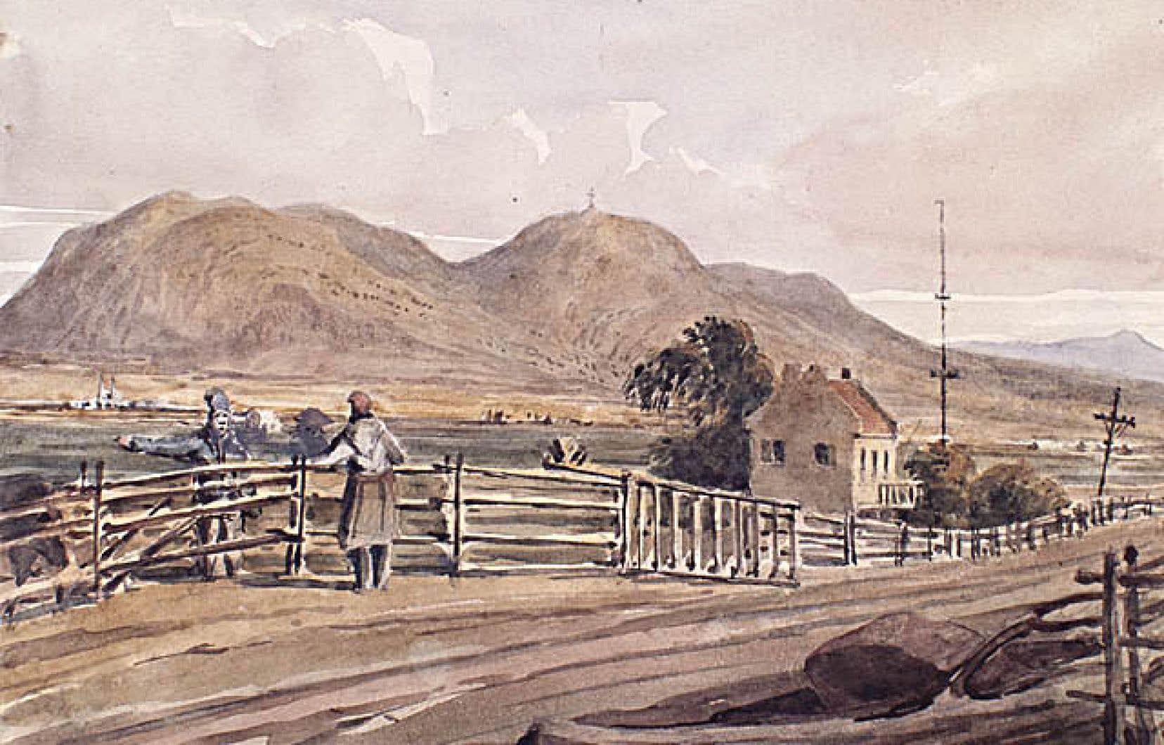 Saint-Hilaire et le mont Belœil en 1838