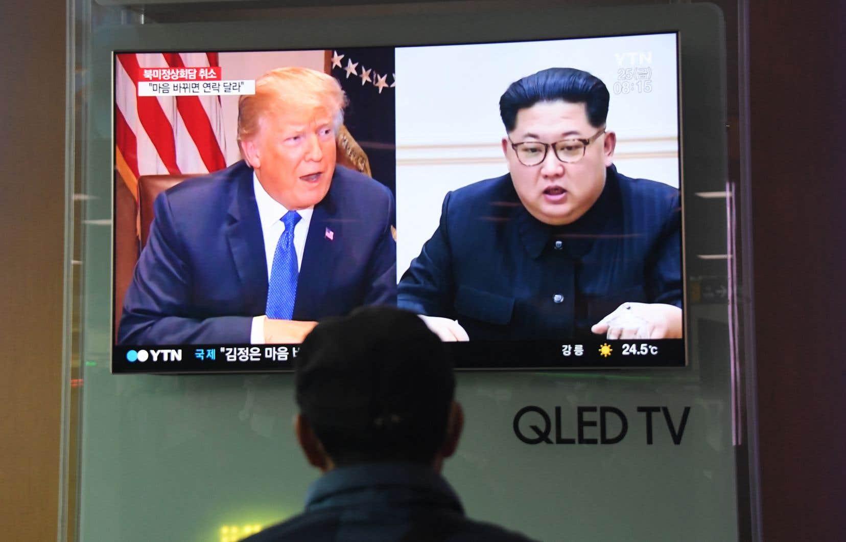 <p>L'euphorie initiale suscitée par la perspective de la rencontre entre Donald Trump et Kim Jong-unavait cédé la place au doute ces derniers temps.</p>