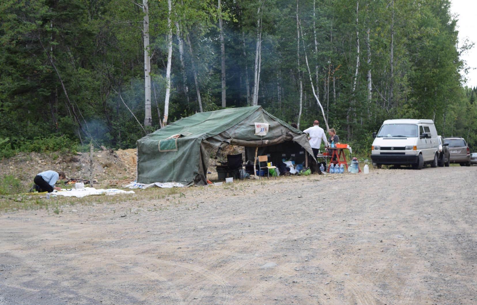 Le campement des opposants au projet Galt, de Junex, est en place depuis neuf mois.