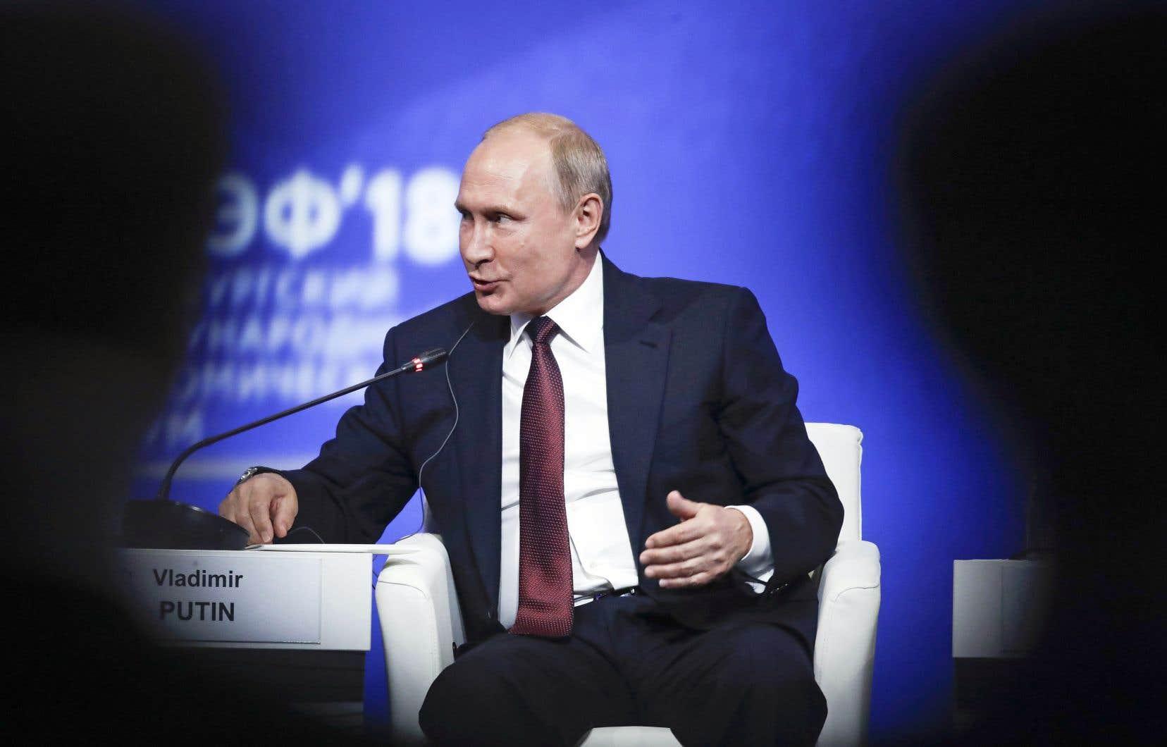 Le discours du président russe, Vladimir Poutine, a été dominé par un constat alarmiste sur le commerce mondial.