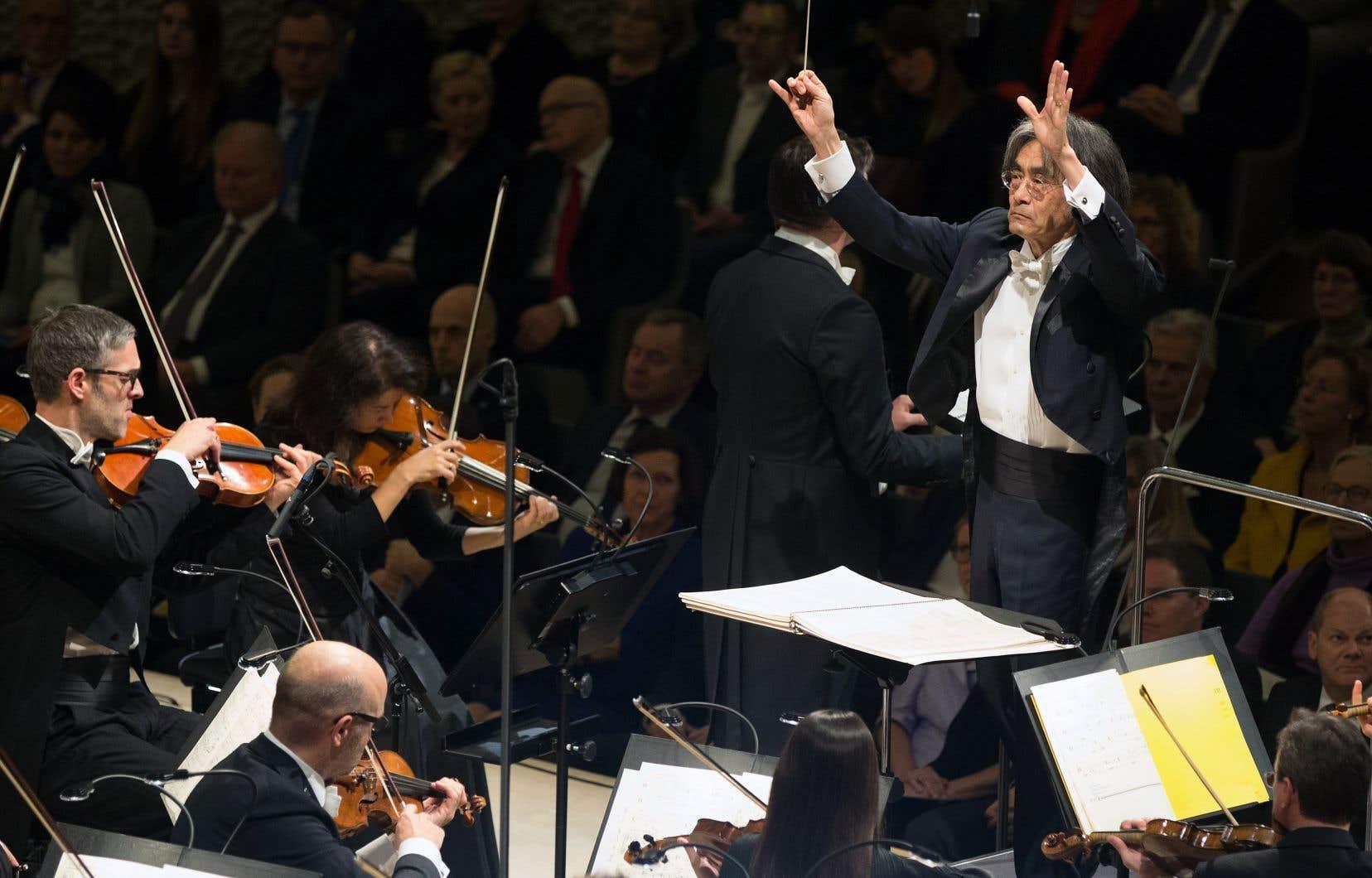 Kent Nagano lors d'un concert à Hambourg, en Allemagne