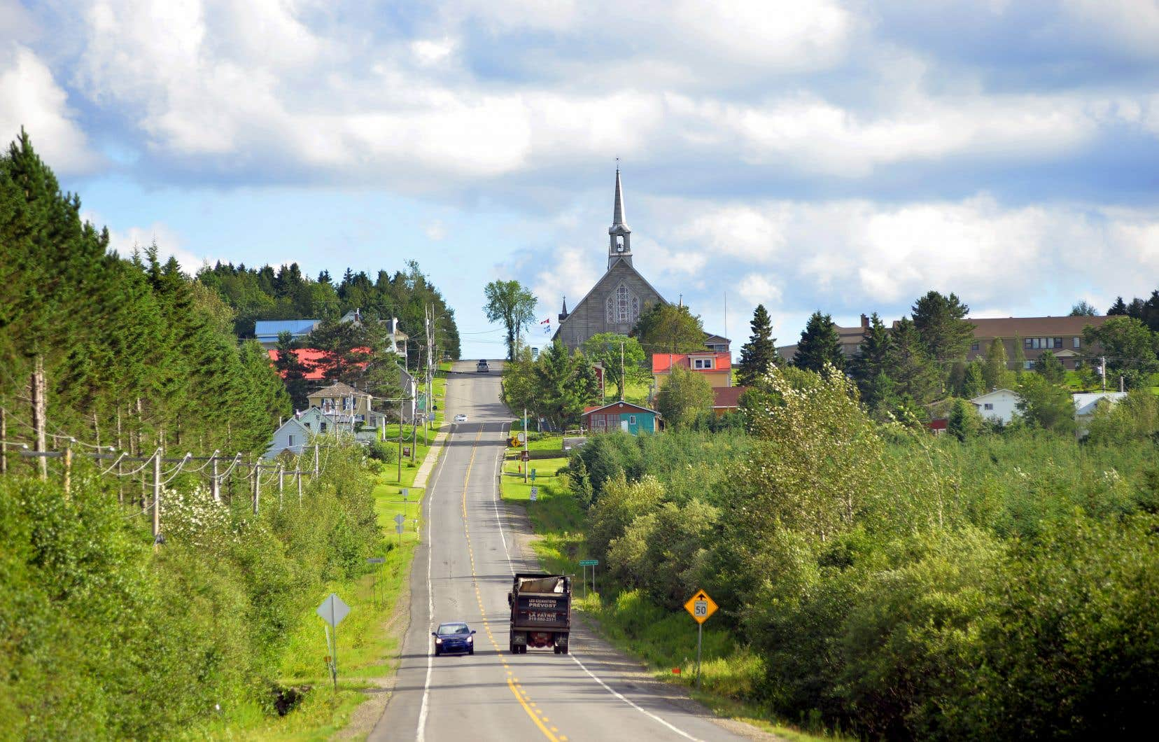 Le village de Notre-Dame-des-Bois, en Estrie
