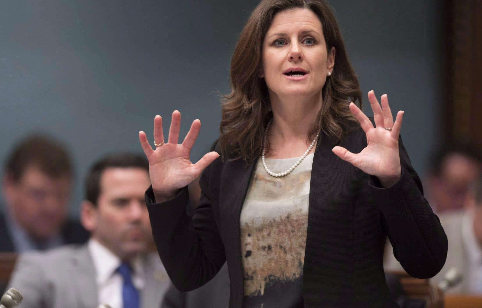 La ministre québécoise de la Justice, Stéphanie Vallée