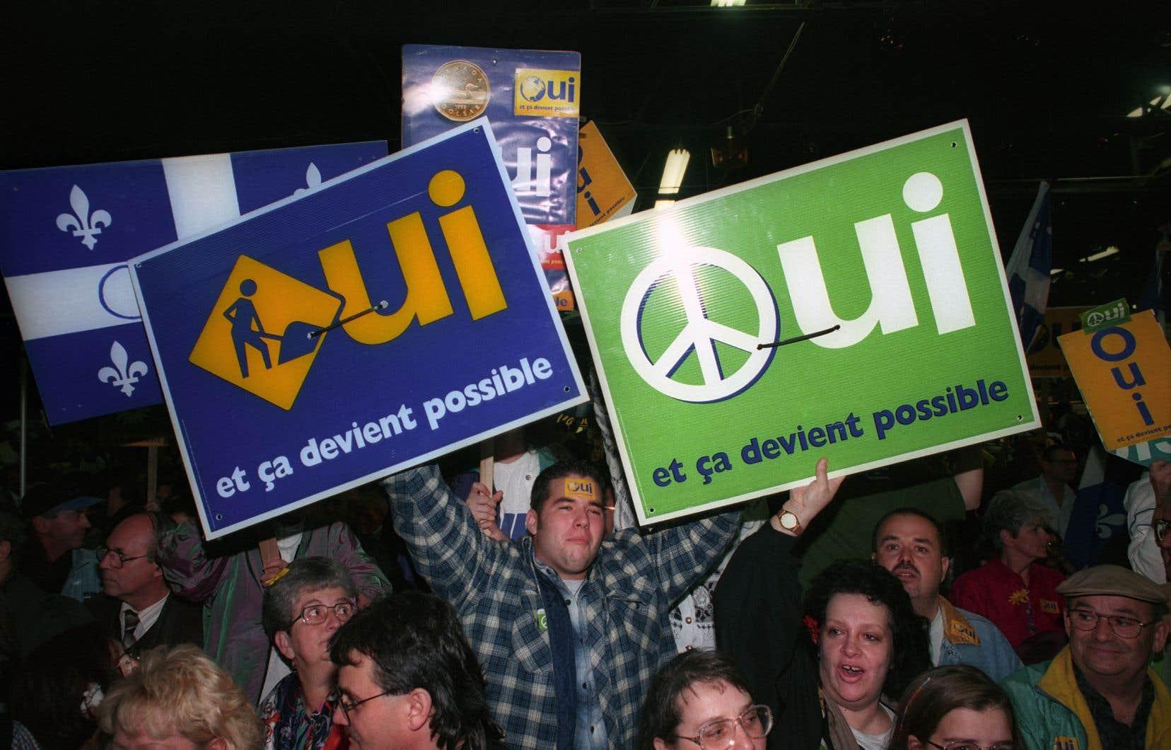 La génération qui porta le référendum de 1995 a pour ainsi dire «décroché», affirme l'auteur.