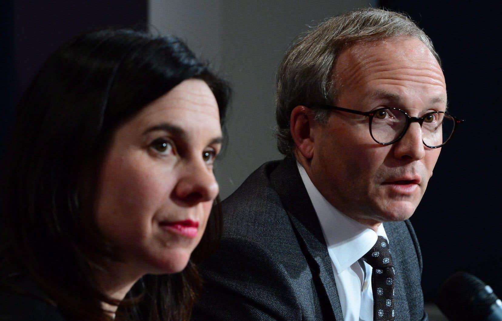 La mairesse de Montréal, Valérie Plante, etle ministre de la Sécurité publique, Martin Coiteux
