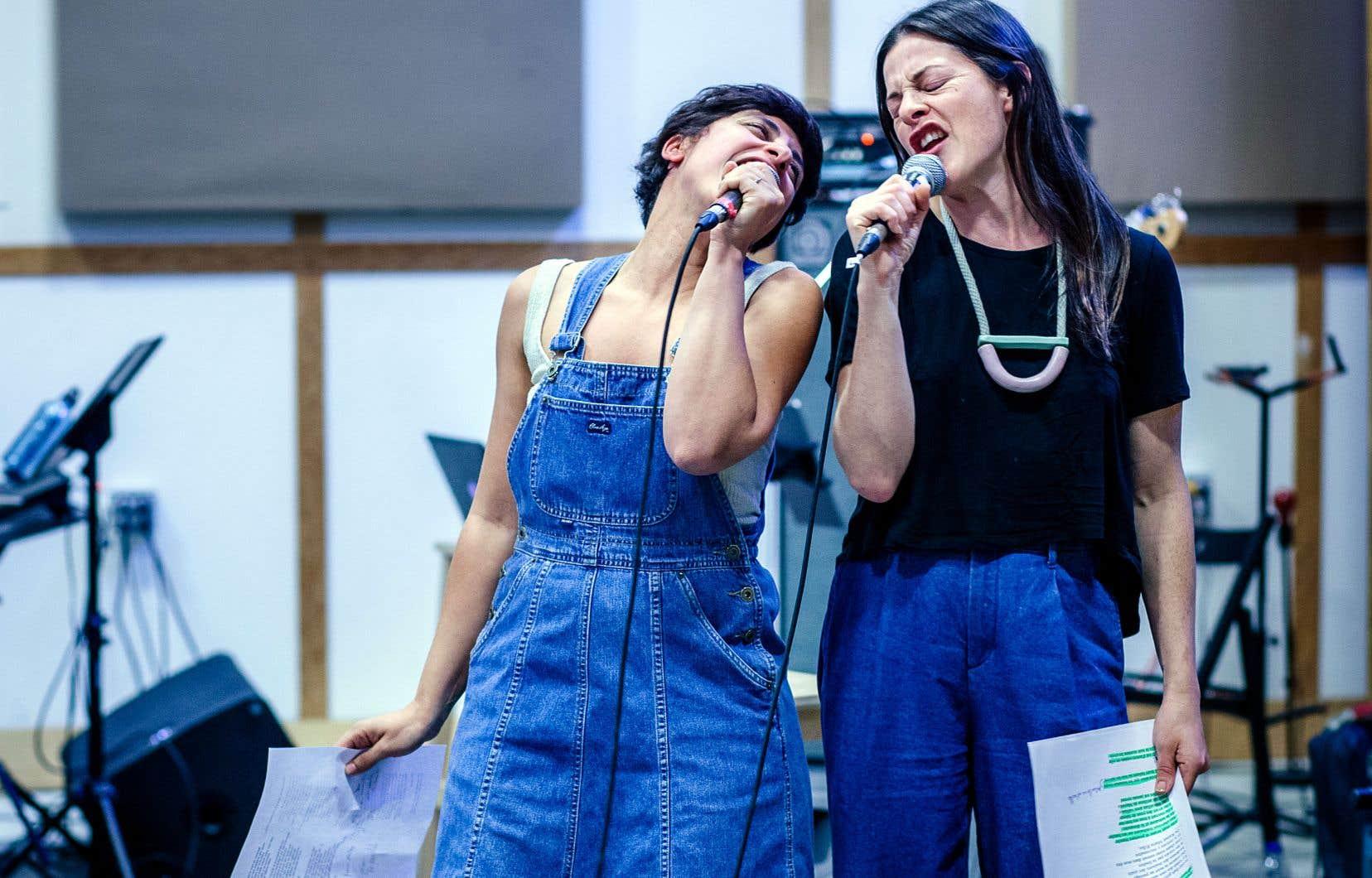 Queen KA et Sophie Cadieux en répétition la semaine dernière