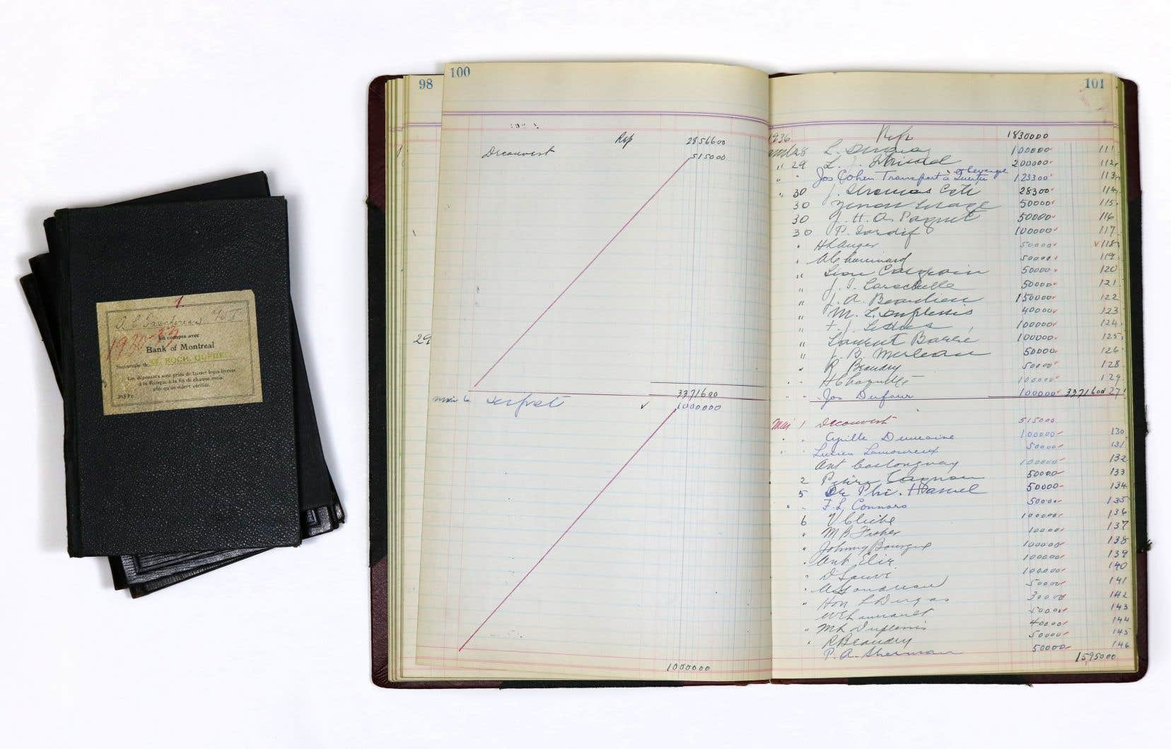 À l'époque du Comité des comptes publics, Antoine Taschereau dit ne pas être certain d'avoir conservé ses livres de comptes. Ceux-ci ont récemment été retrouvés dans les archives de l'Assemblée nationale.