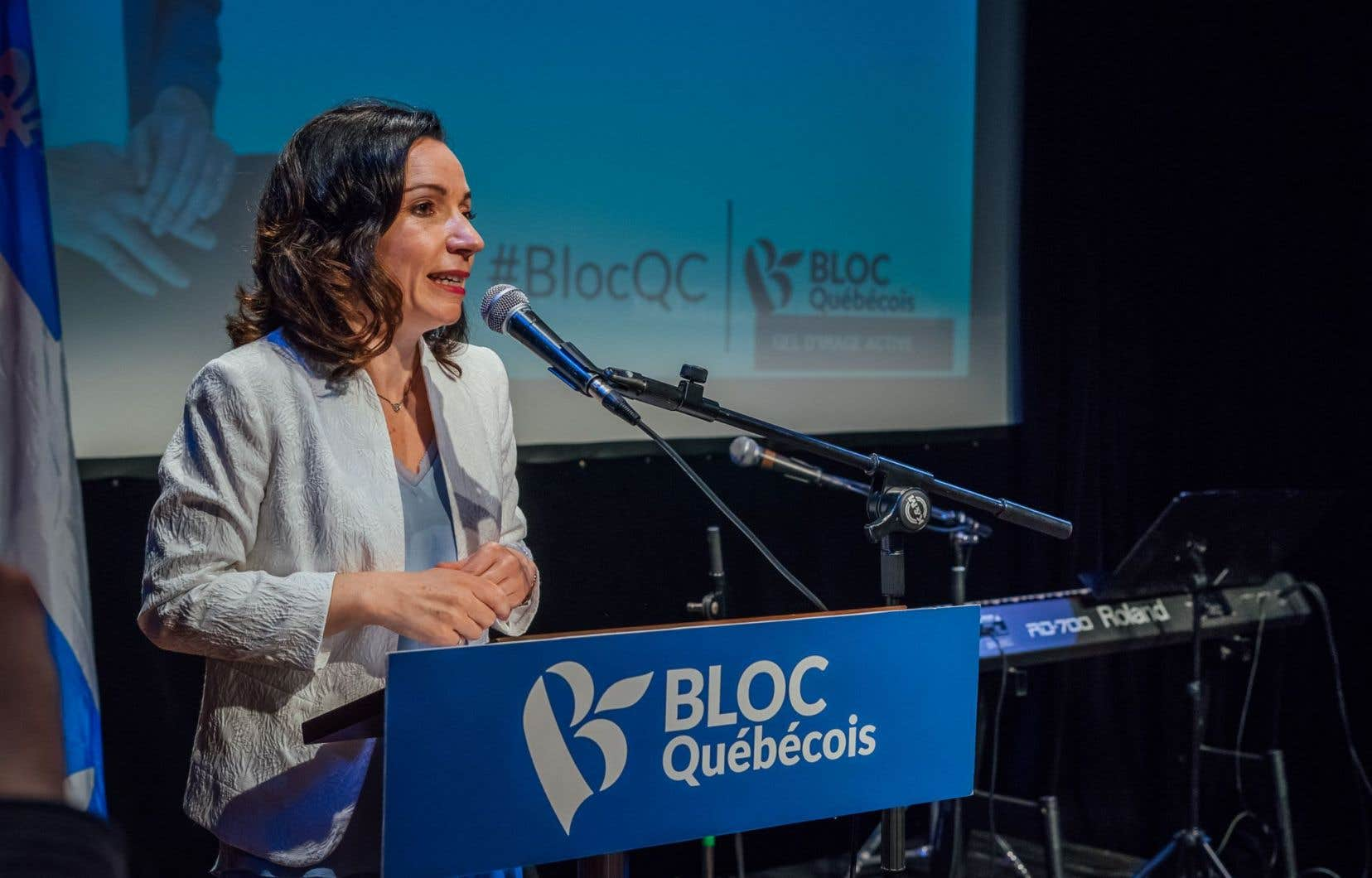 La chef du Bloc québécois, Martine Ouellet, en mai dernier