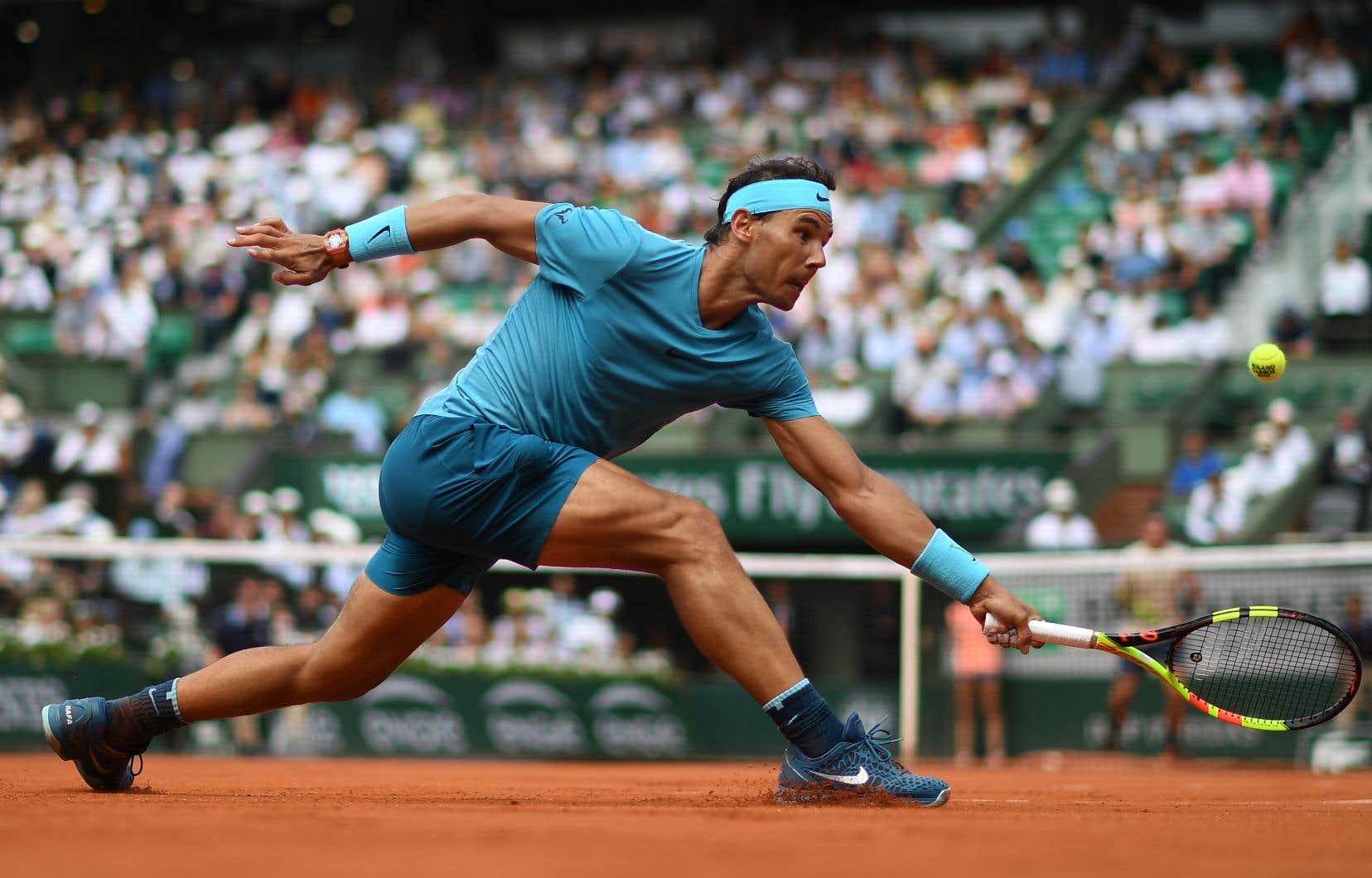 Rafael Nadal est à la poursuite d'un 11etitre dans sa carrière sur la terre battue de Roland-Garros.