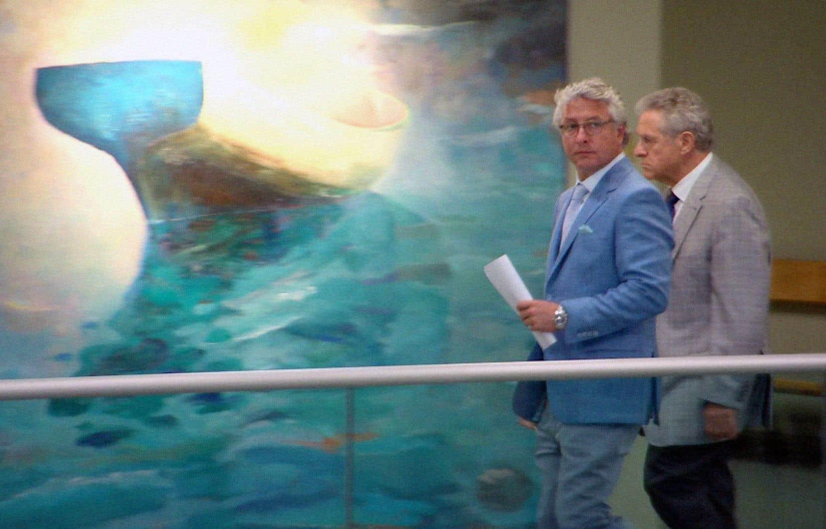 Le fils aîné de Tony Accurso, Jimmy Accurso, est venu témoigner en faveur de son père, mardi, au palais de justice de Laval.
