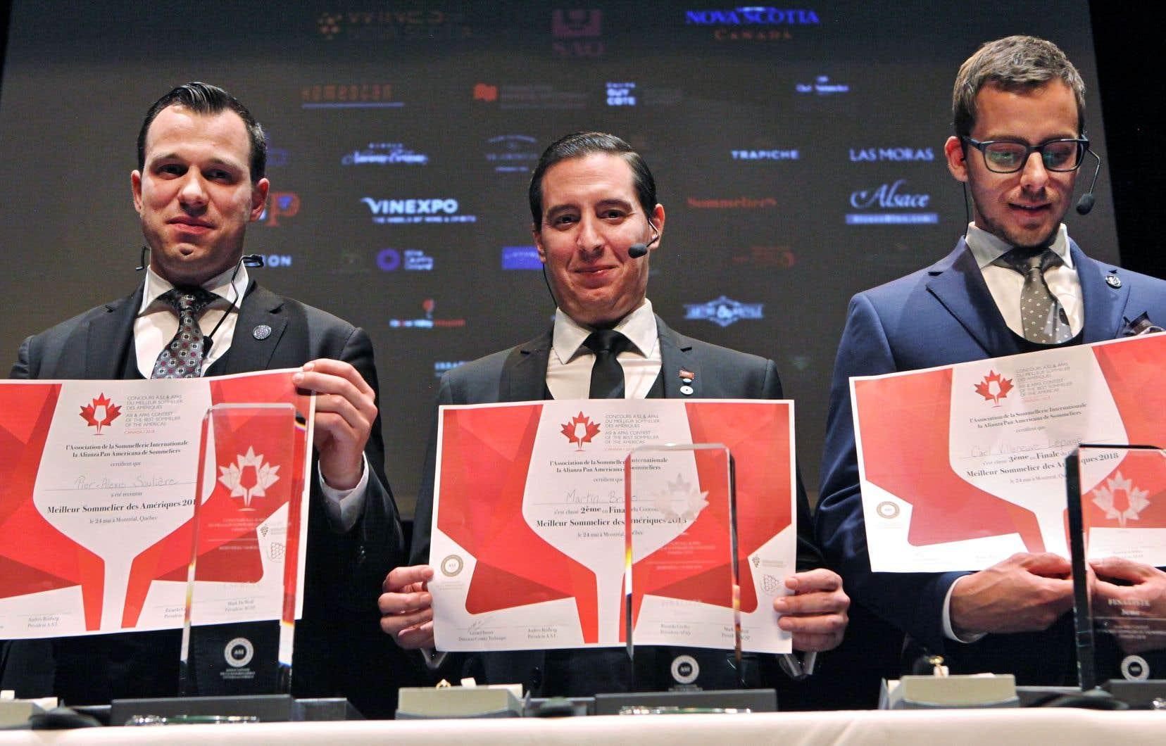 De gauche à droite: Pier-Alexis Soulière, Martin Bruno et Carl Villeneuve-Lepage