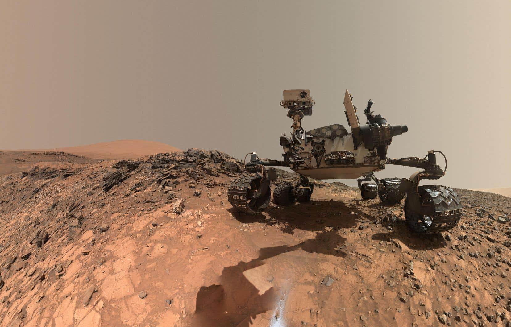 Curiosity, qui s'est posé sur la planète rouge en 2012, avait déjà découvert en 2014 de la matière organique, en petite quantité.
