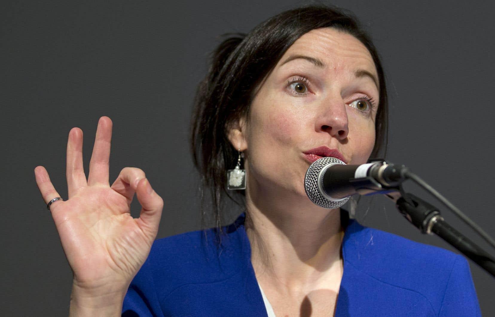 La députée indépendante Martine Ouellet