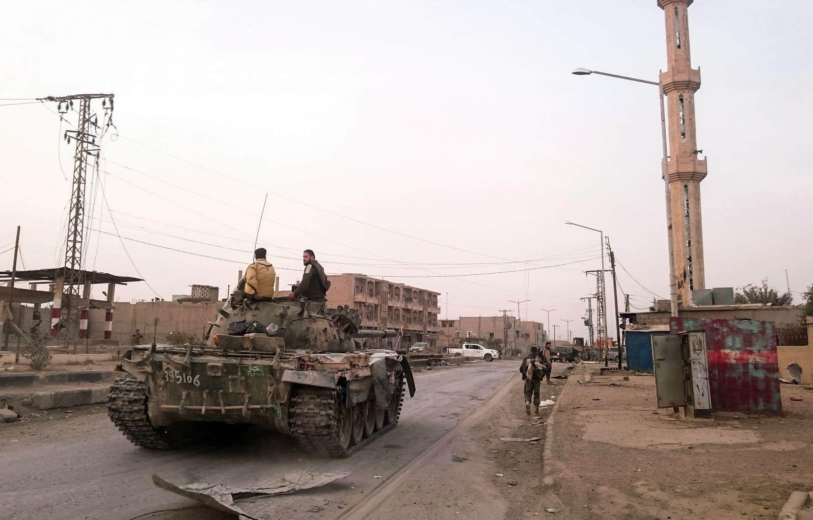 Le gouvernement syrien avait proclamé fin 2017 la victoire contre le groupe armé, dans la ville de Boumakal.