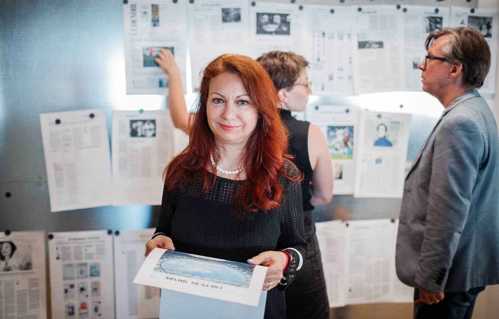 «Le Devoir» retrouve la journaliste visuelle Lucie Lacava, 25 ans après sa dernière refonte.