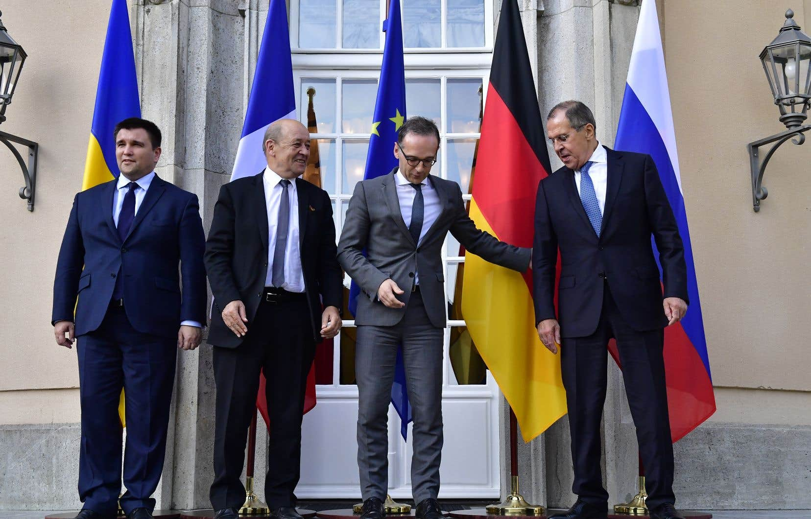 Russes et Ukrainiens se sont réengagés en faveur d'un cessez-le-feu, ce lundi à Berlin.